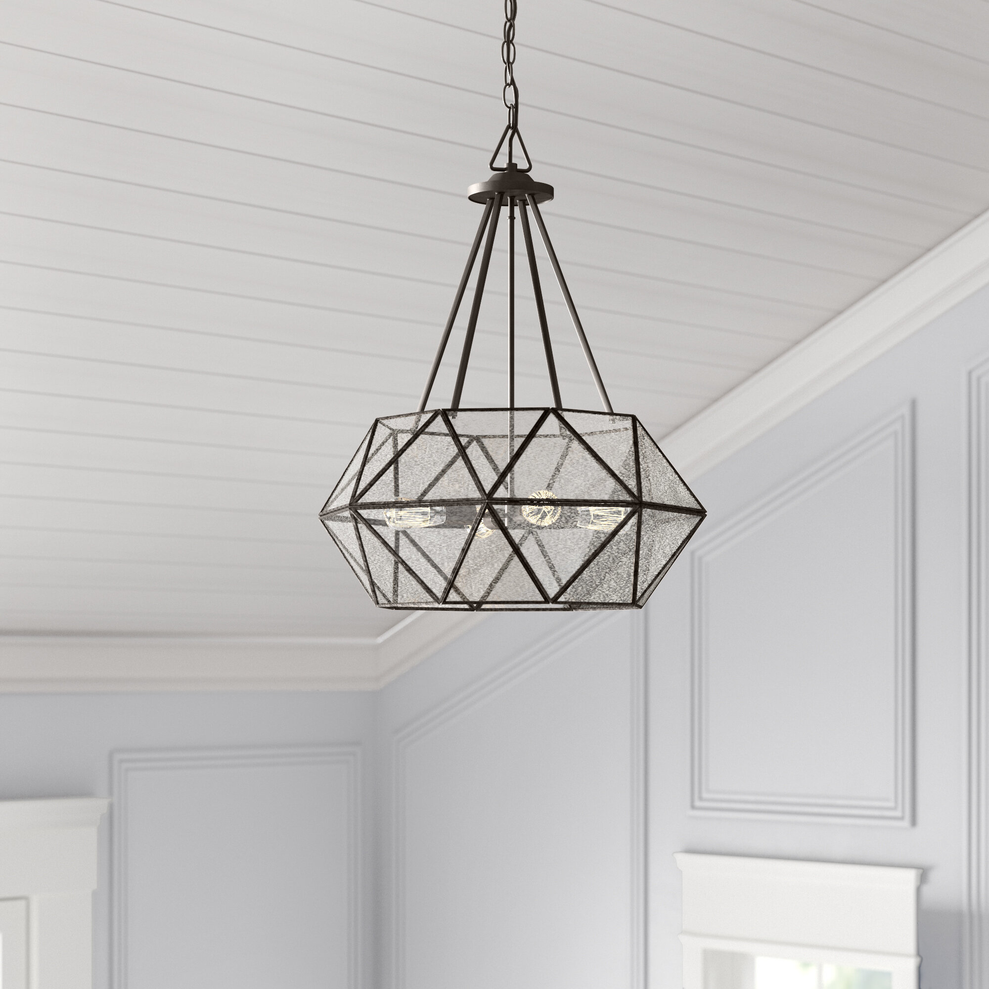 Jacey 4-Light Chandelier intended for Cavanagh 4-Light Geometric Chandeliers (Image 9 of 30)