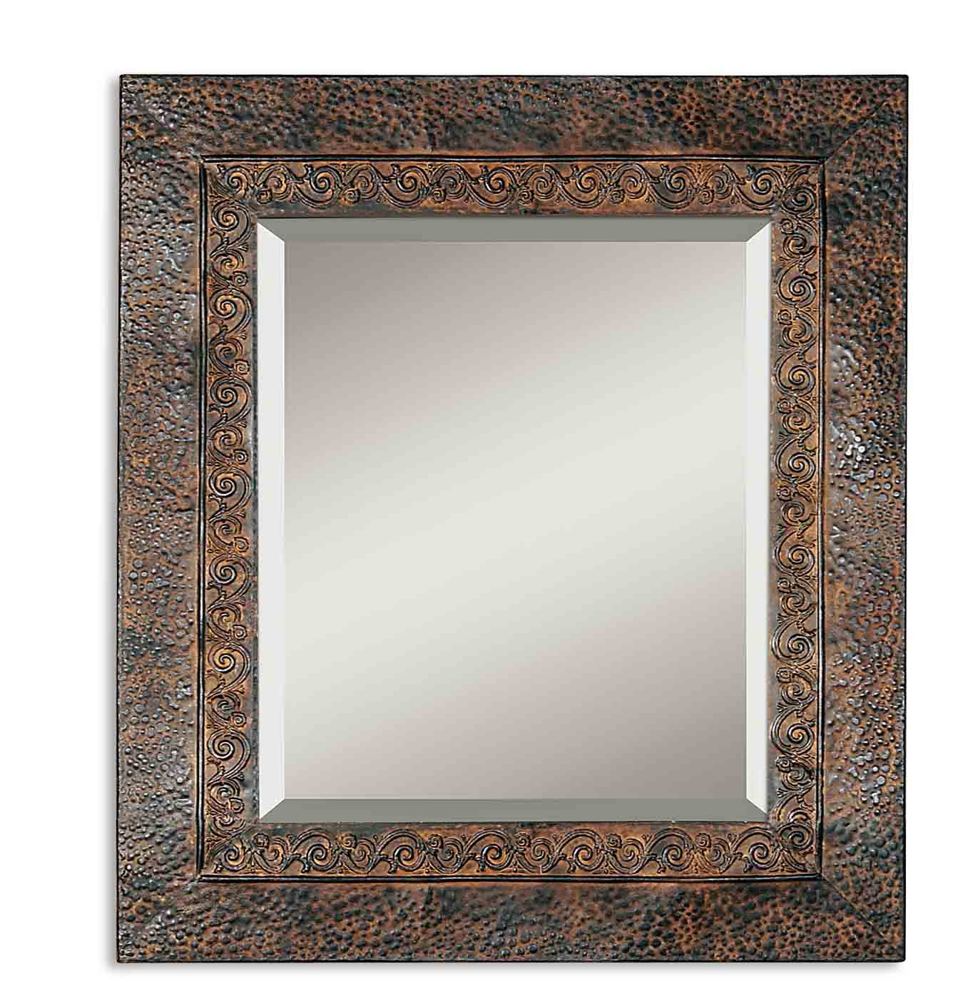 Jackson Rustic Metal Wall Mirroruttermost – 30″ X 34″ For Traditional Metal Wall Mirrors (View 7 of 30)
