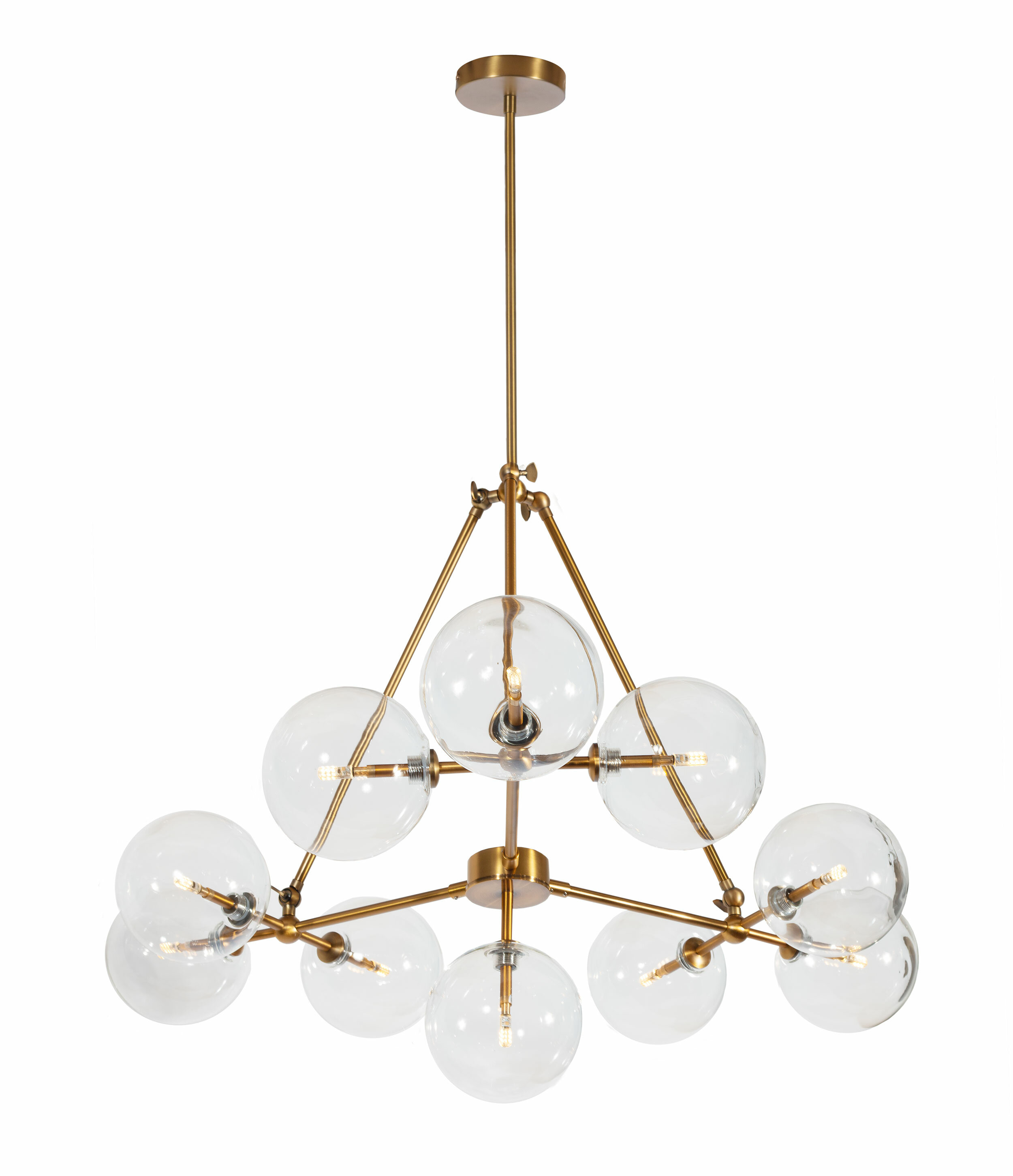 Jamie 10-Light Sputnik Chandelier in Asher 12-Light Sputnik Chandeliers (Image 16 of 30)