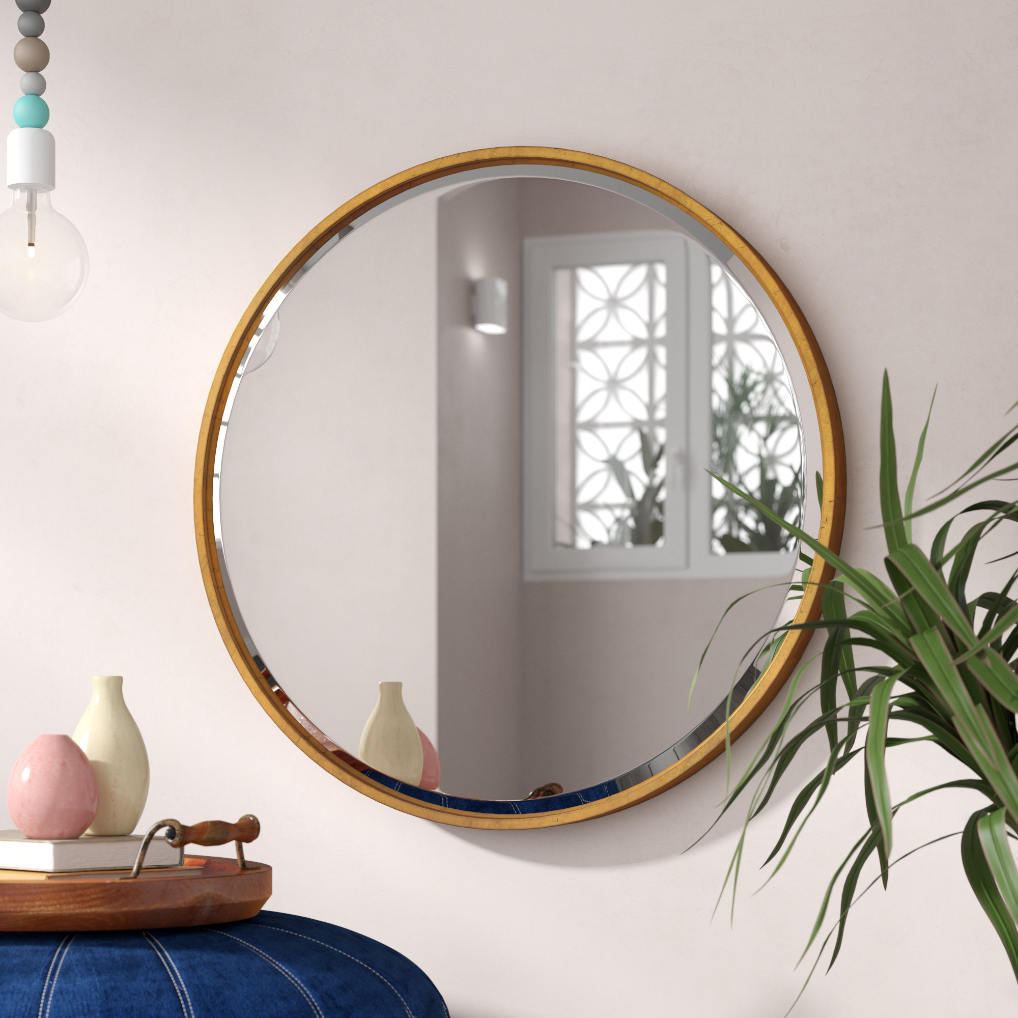 Jamie Modern & Contemporary Beveled Wall Mirror intended for Colton Modern & Contemporary Wall Mirrors (Image 18 of 30)