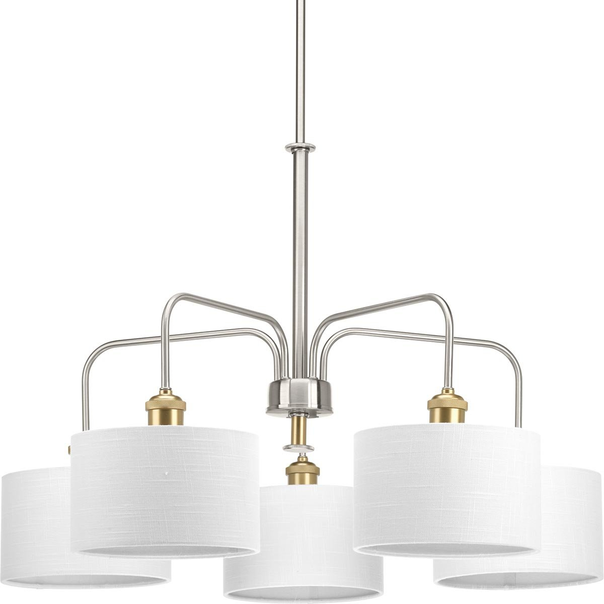 Jamiya 5 Light Shaded Chandelier In Breithaup 7 Light Drum Chandeliers (View 18 of 30)