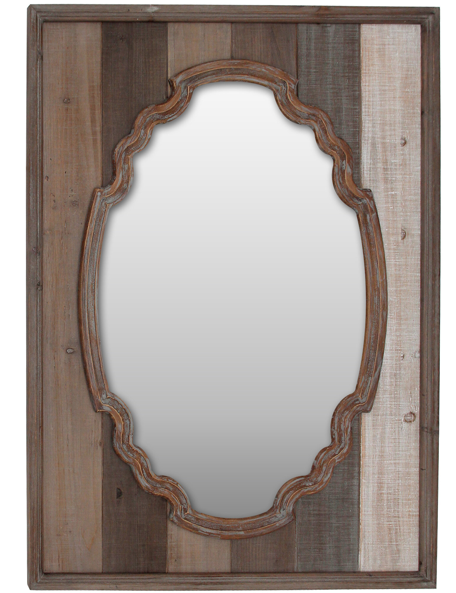 Jaylyn Elegant Farmstead Rustic Accent Mirror Intended For Menachem Modern & Contemporary Accent Mirrors (Image 12 of 30)