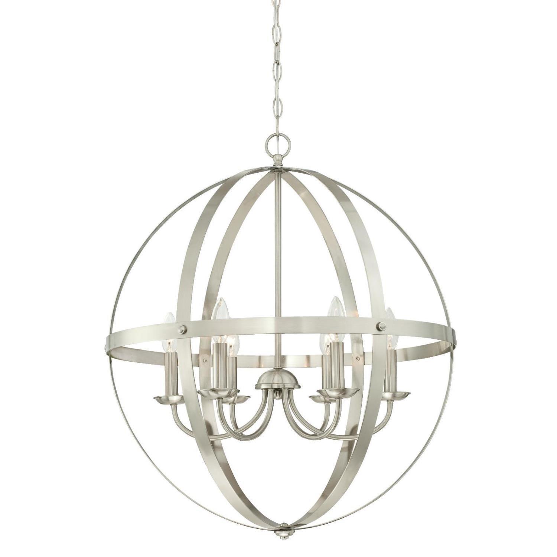 Joon 6 Light Globe Chandelier In Filipe Globe Chandeliers (View 14 of 30)