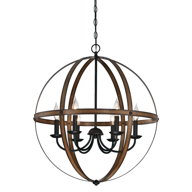Joon 6 Light Globe Chandelier With Filipe Globe Chandeliers (View 16 of 30)