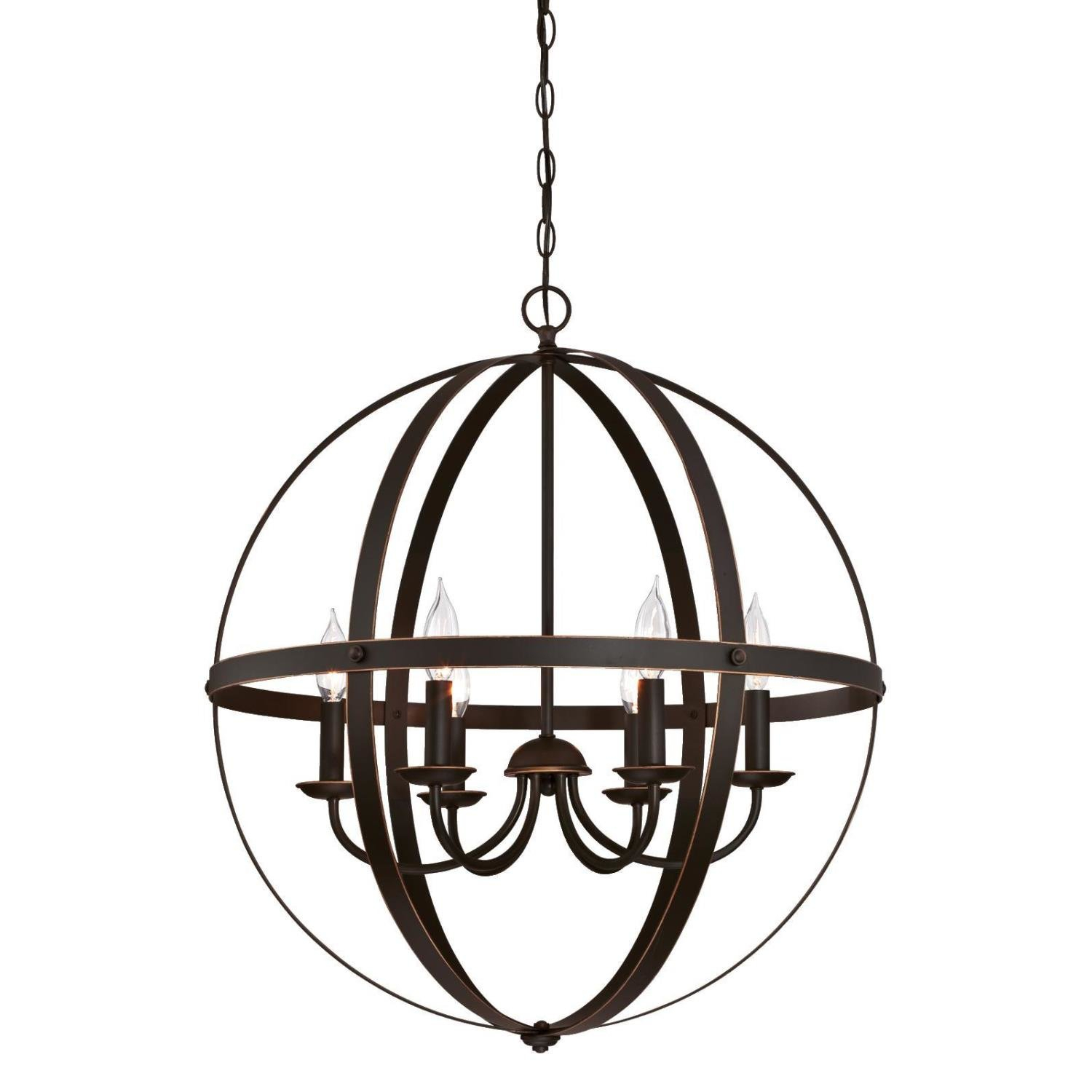Joon 6-Light Globe Chandelier with Joon 6-Light Globe Chandeliers (Image 14 of 30)