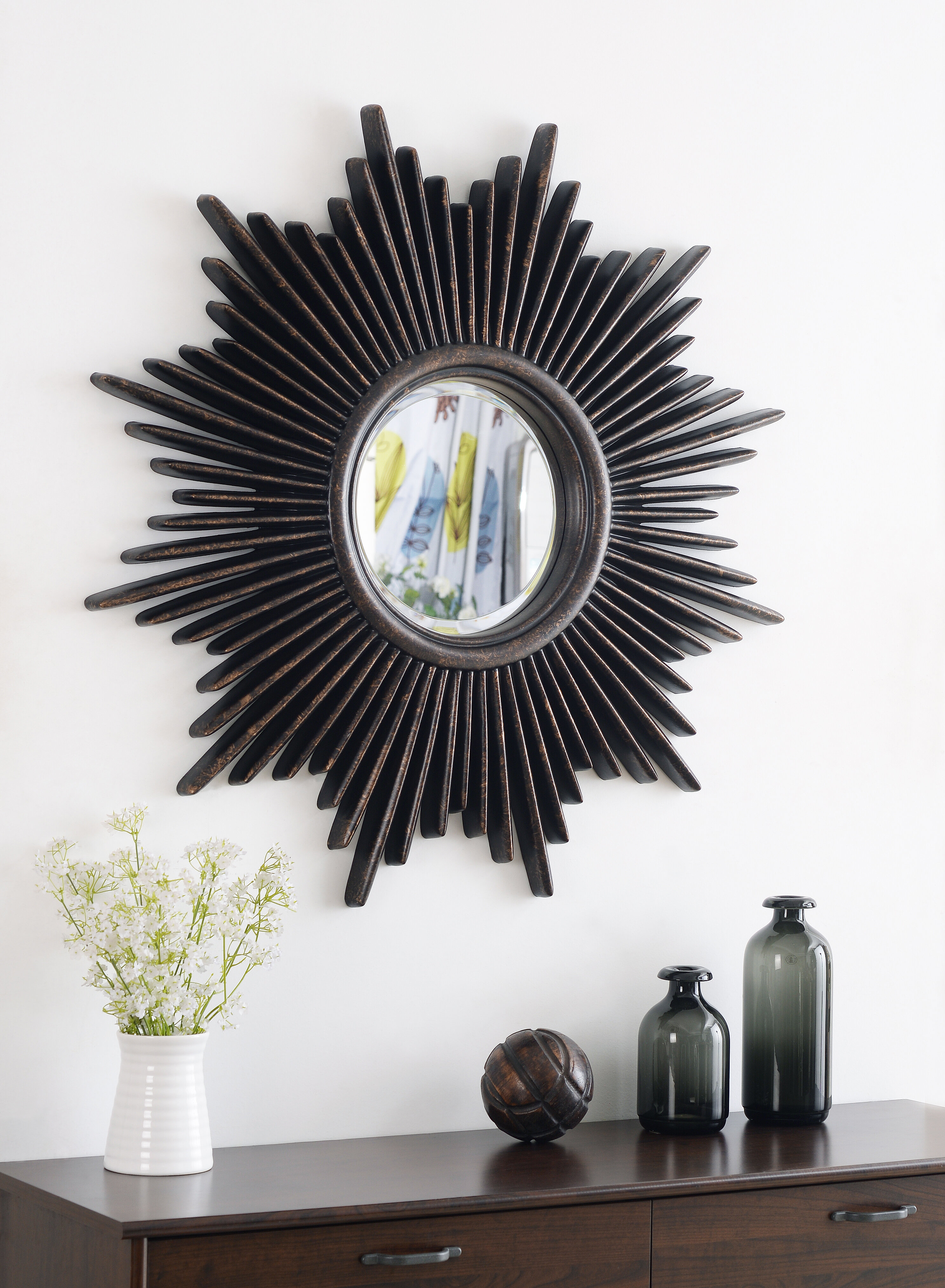 Josephson Starburst Glam Beveled Accent Wall Mirror for Josephson Starburst Glam Beveled Accent Wall Mirrors (Image 10 of 22)