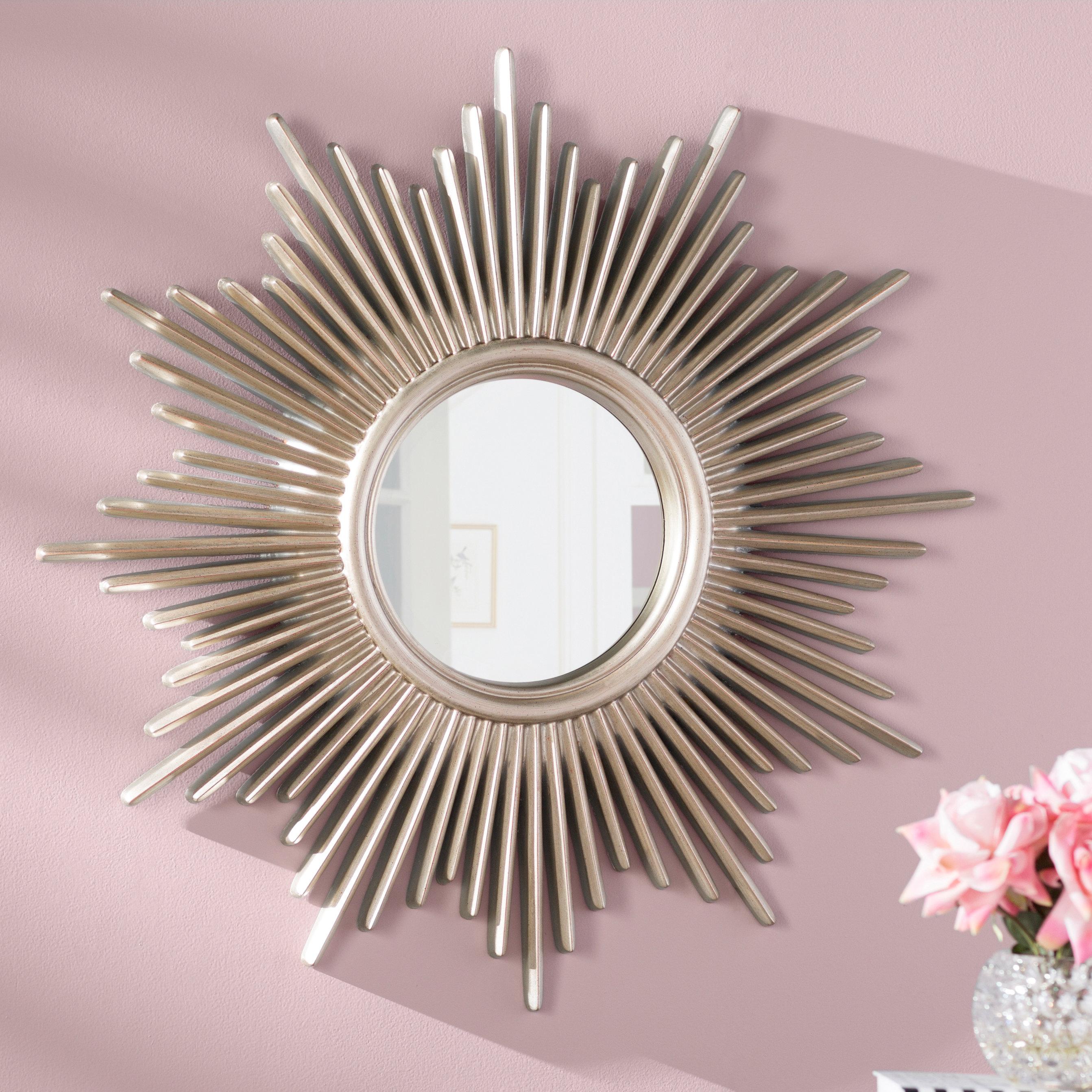 Josephson Starburst Glam Beveled Accent Wall Mirror In Josephson Starburst Glam Beveled Accent Wall Mirrors (View 2 of 22)