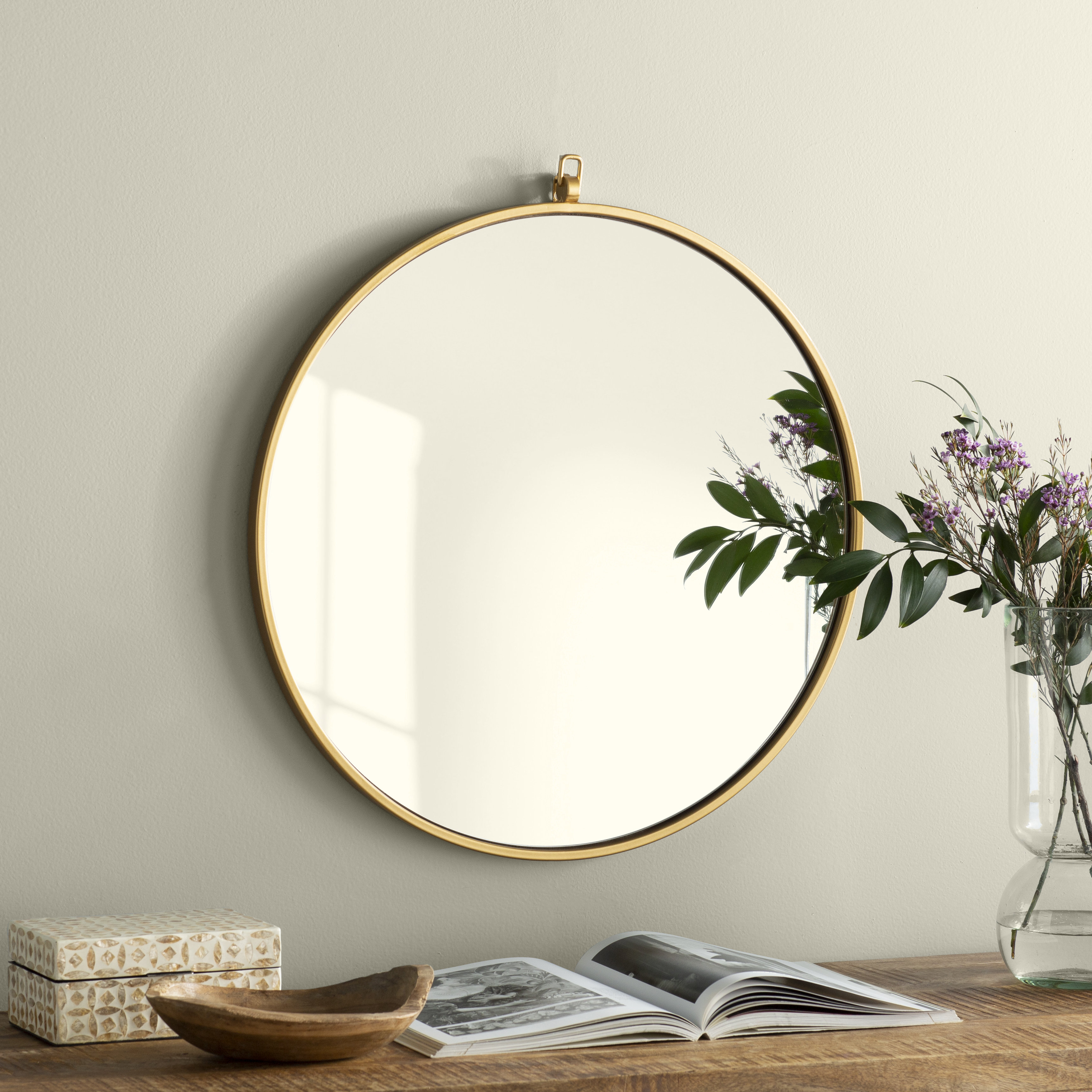 Joss & Main Essentials Accent Mirror & Reviews | Joss & Main with regard to Swagger Accent Wall Mirrors (Image 11 of 30)