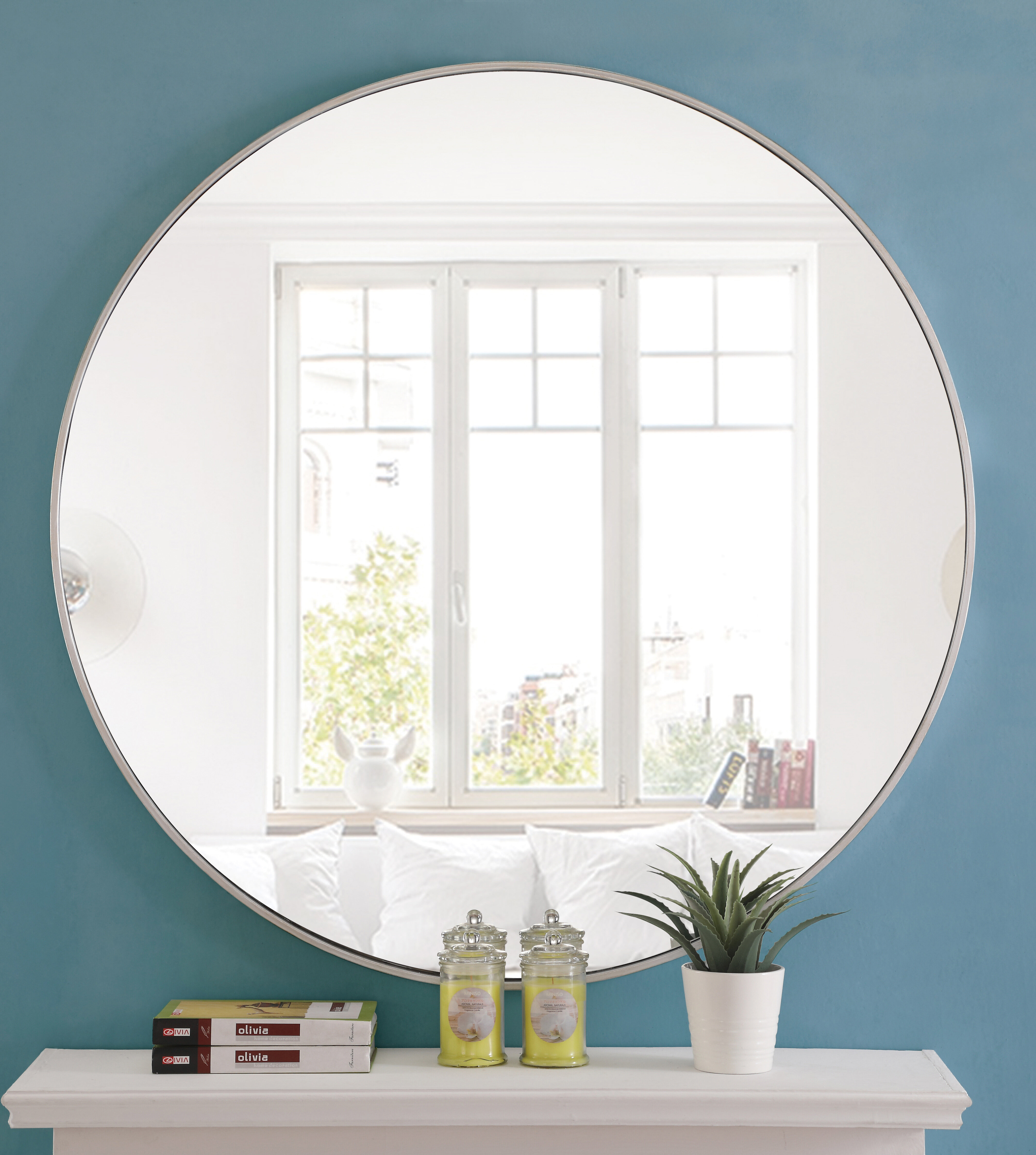 Joss & Main Essentials Wall Mounted Mirror in Swagger Accent Wall Mirrors (Image 12 of 30)