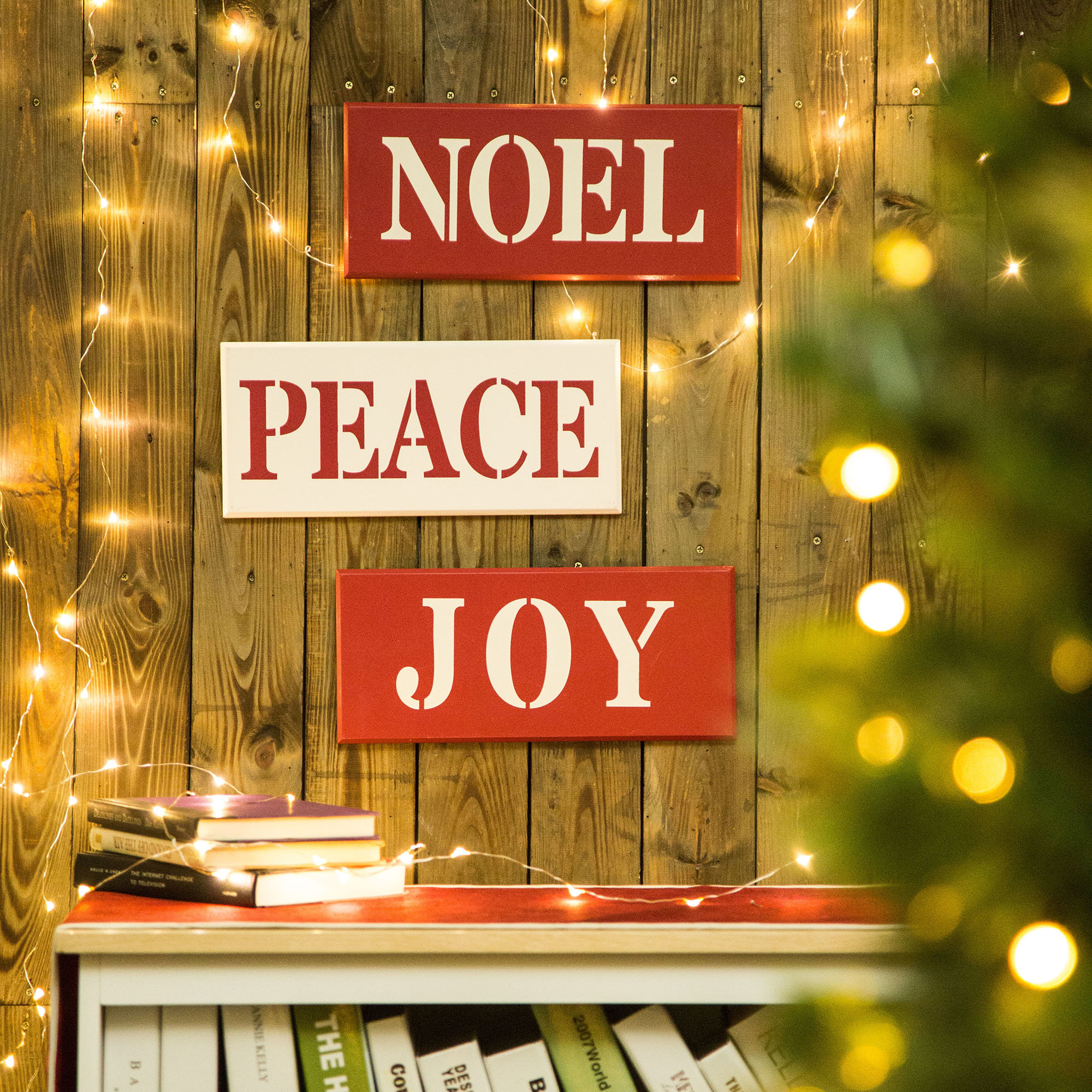 """""""joy Noel Peace"""" Wall Décor Intended For Rioux Birds On A Wire Wall Decor (View 13 of 30)"""