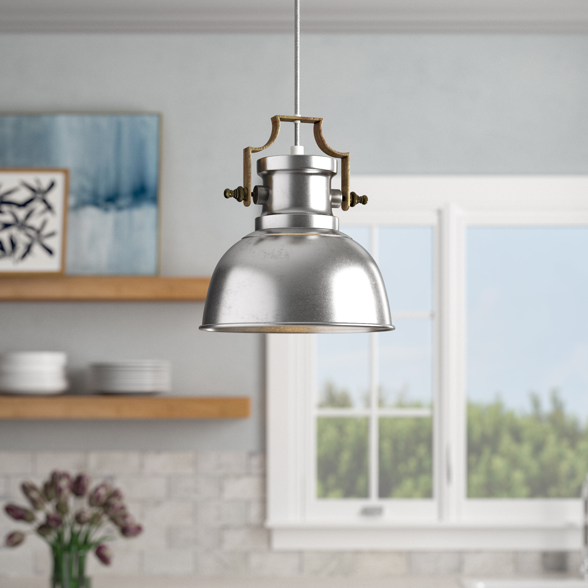Jules 1 Light Single Dome Pendant With Regard To Priston 1 Light Single Dome Pendants (View 14 of 30)