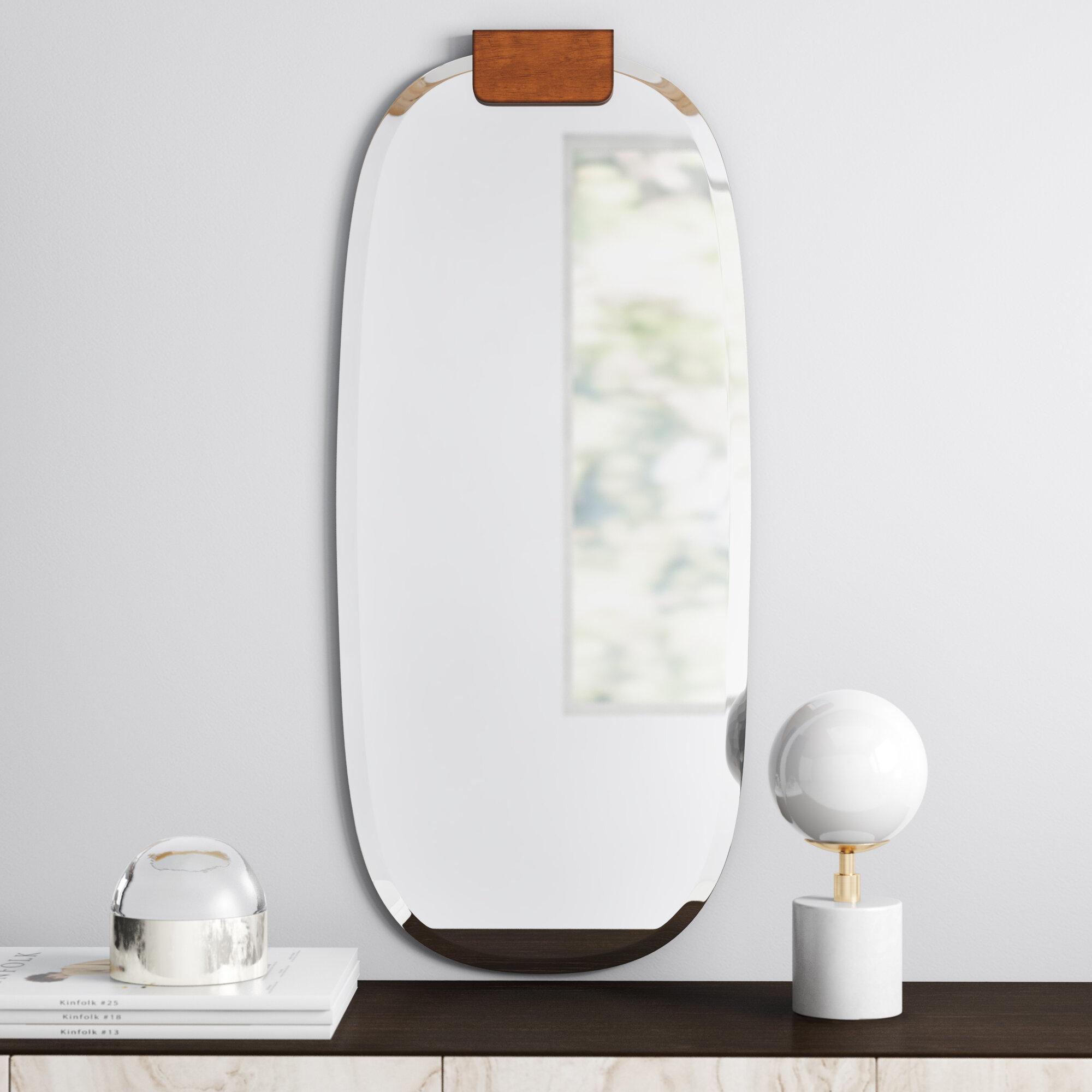 Jules Frameless Accent Mirror Inside Peetz Modern Rustic Accent Mirrors (Image 17 of 30)