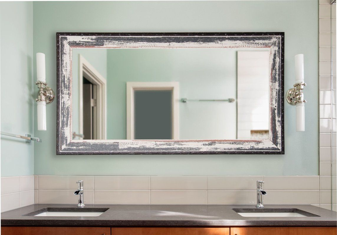 Junipero Modern & Contemporary Bathroom/vanity Mirror In Pertaining To Landover Rustic Distressed Bathroom/vanity Mirrors (View 17 of 30)