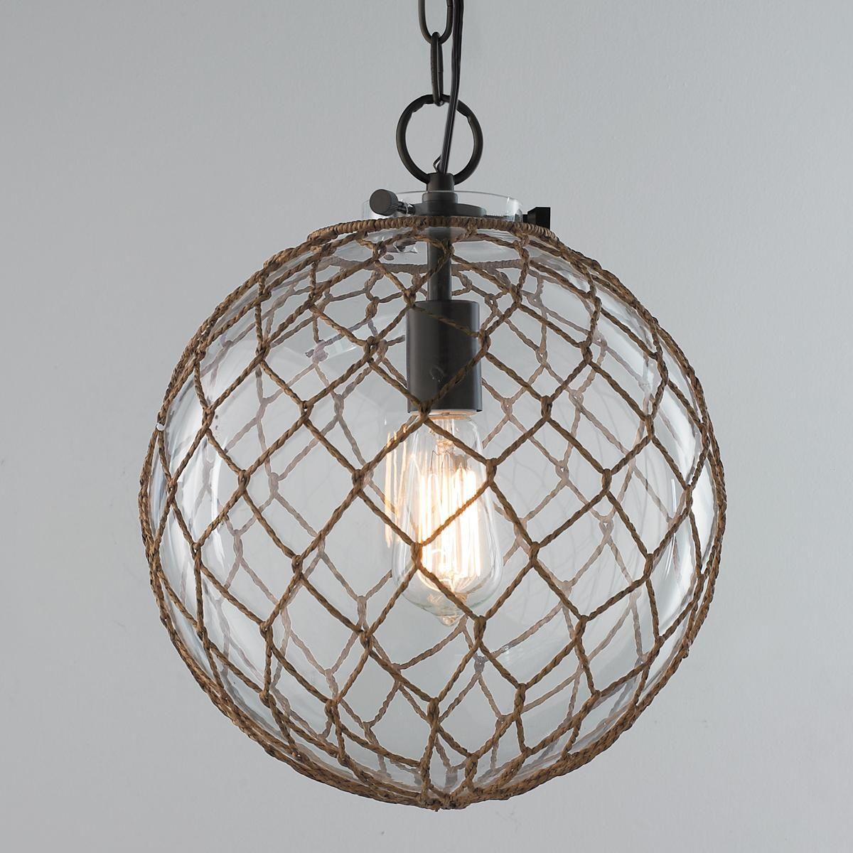 Jute Rope Globe Pendant | Coastal And Nautical Looks For Prange 1 Light Single Globe Pendants (View 22 of 30)
