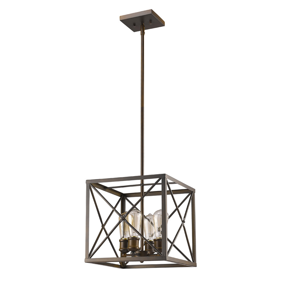 Kaison 4 Light Square/rectangle Chandelier With Regard To Delon 4 Light Square Chandeliers (Photo 10 of 30)