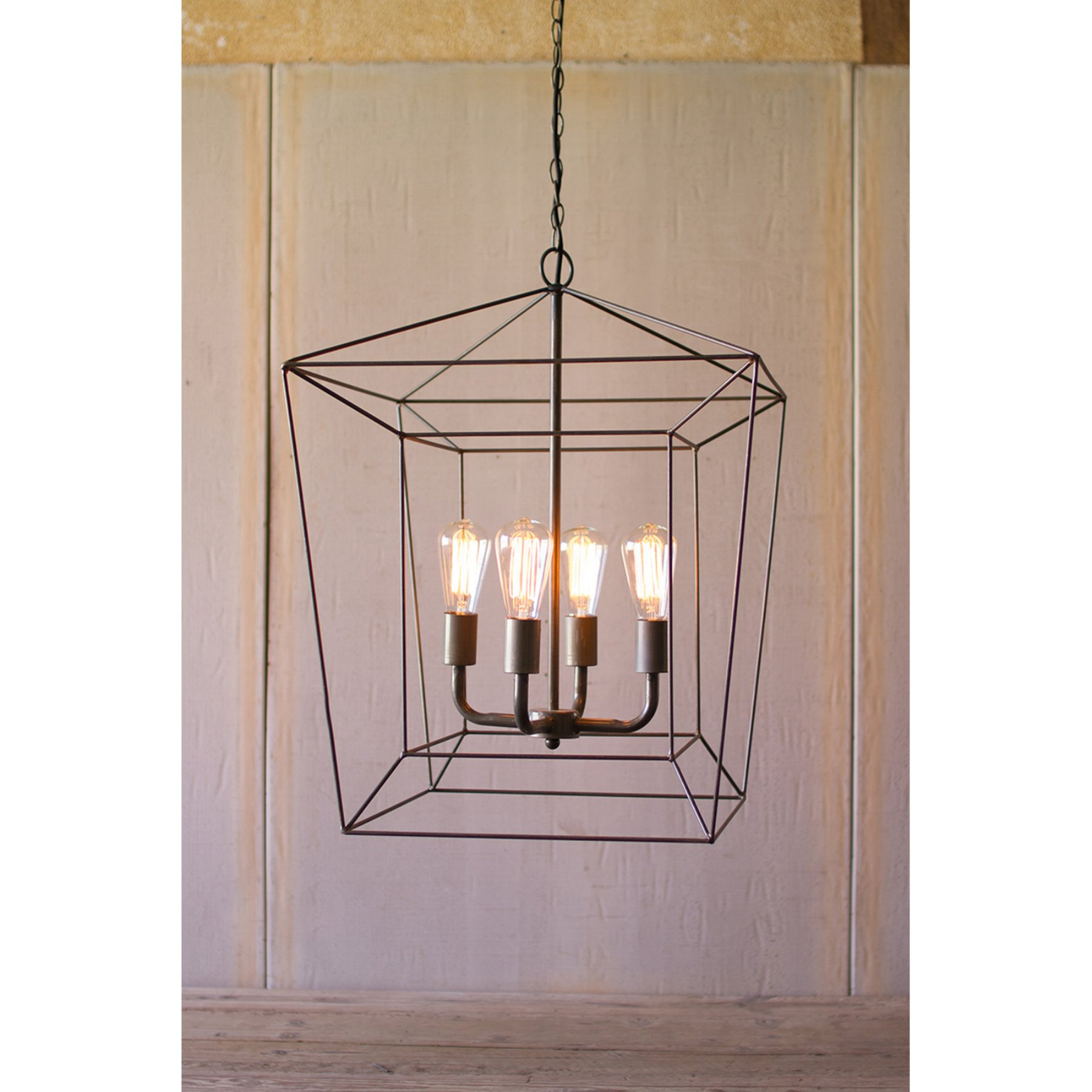 Kalalou Square Iron Bar Pendant Light | Products | Bar Within Odie 4 Light Lantern Square Pendants (Photo 25 of 30)