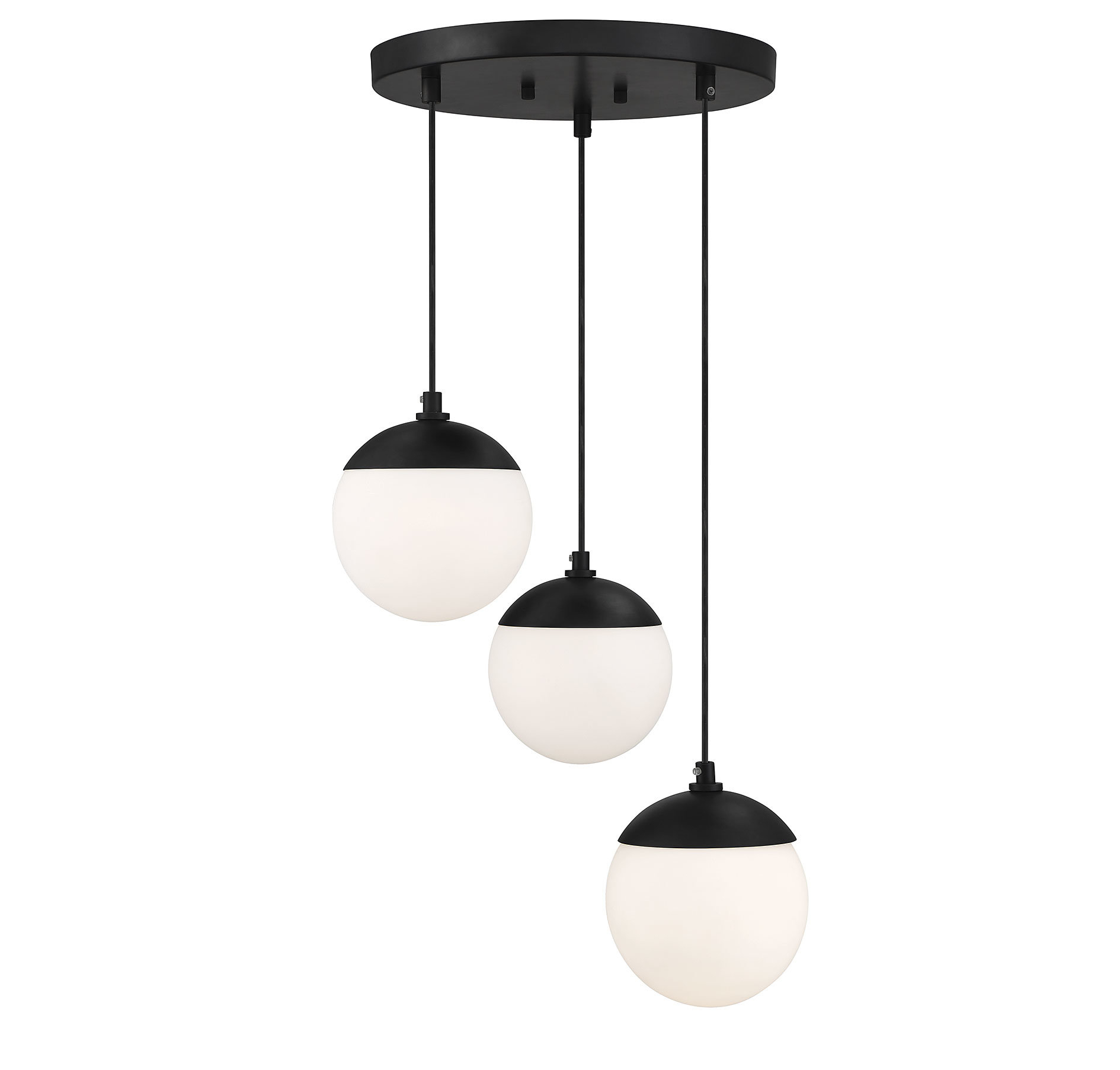 Kara 3 Light Cluster Globe Pendant Throughout Bautista 1 Light Single Globe Pendants (Photo 15 of 30)