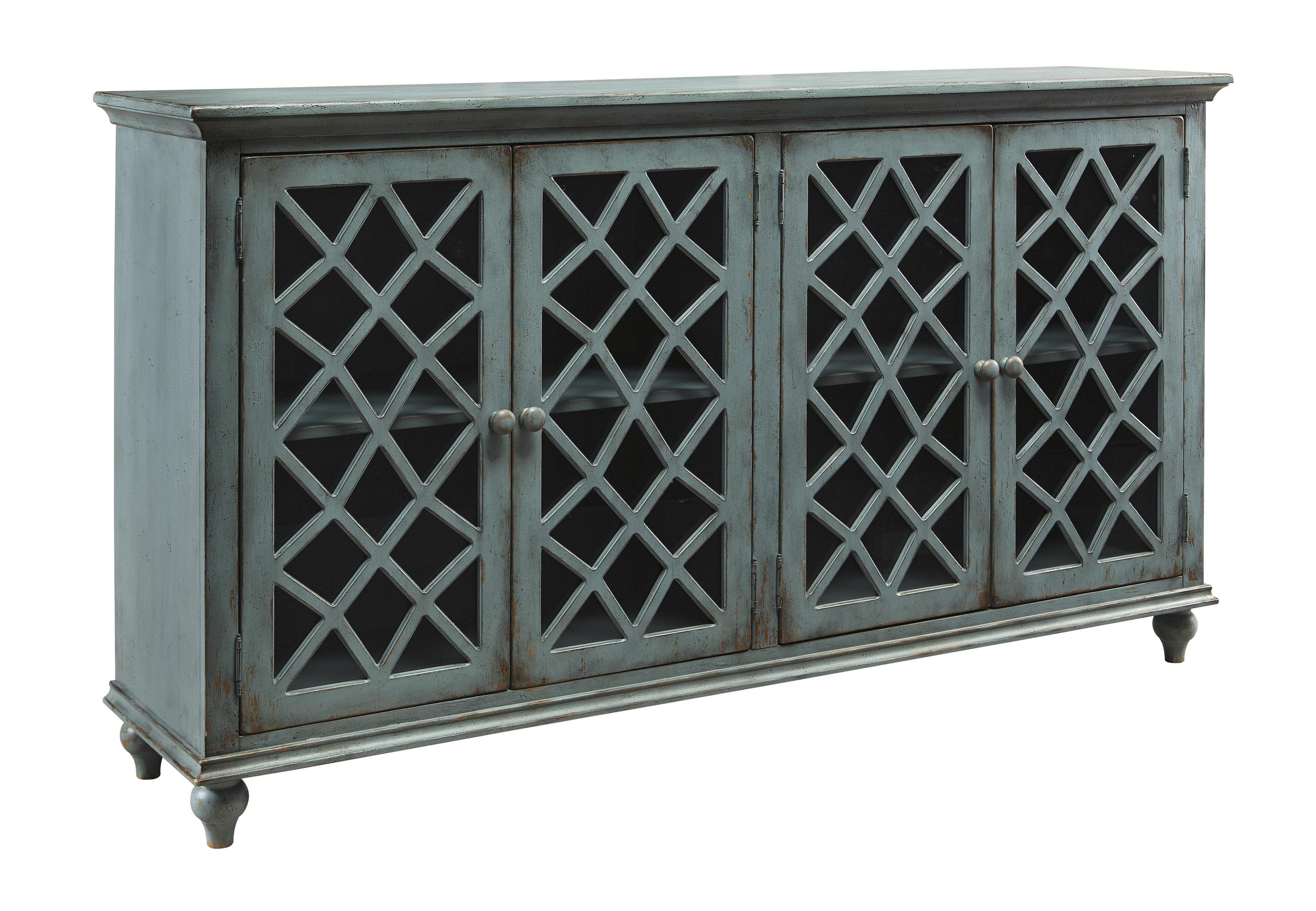 Kara 4 Door Accent Cabinet with regard to Kara 4 Door Accent Cabinets (Image 19 of 30)