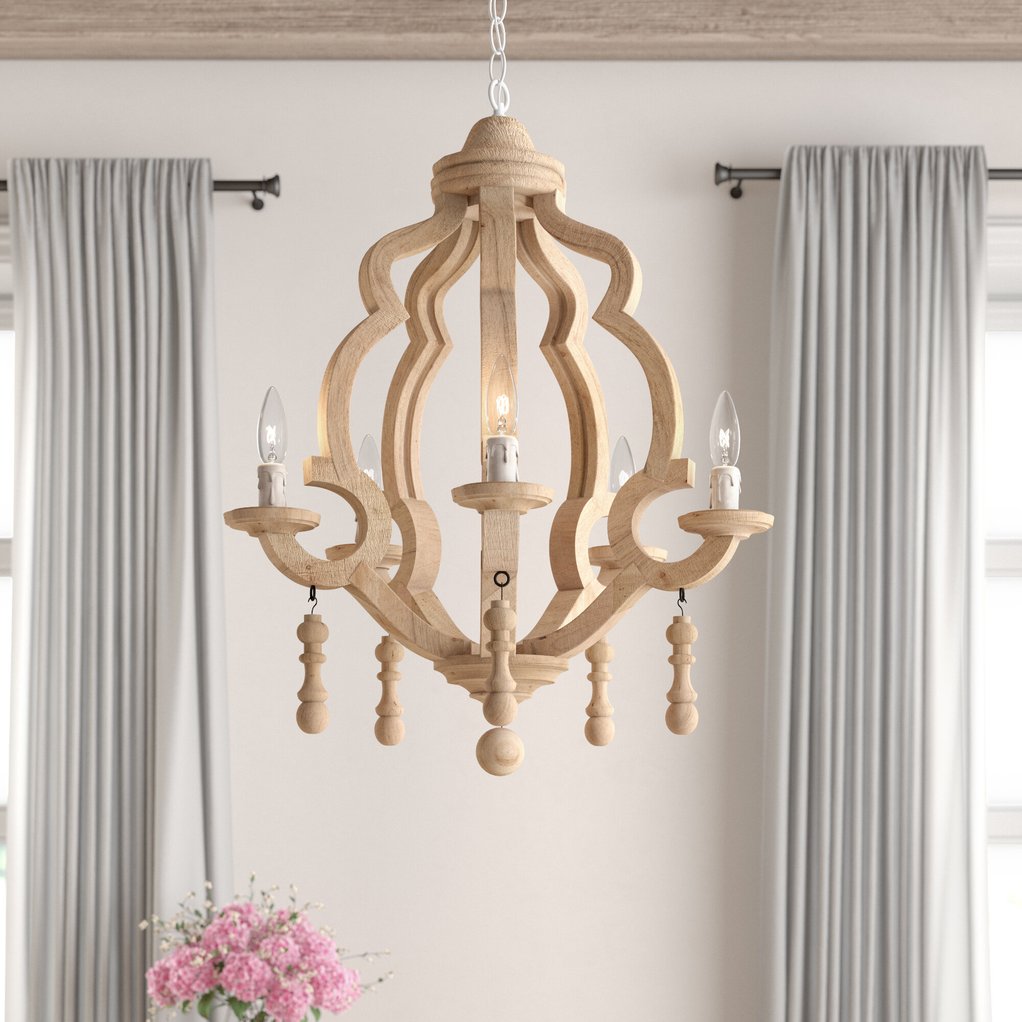 Kare 5 Light Chandelier & Reviews | Joss & Main In Duron 5 Light Empire Chandeliers (Photo 9 of 30)