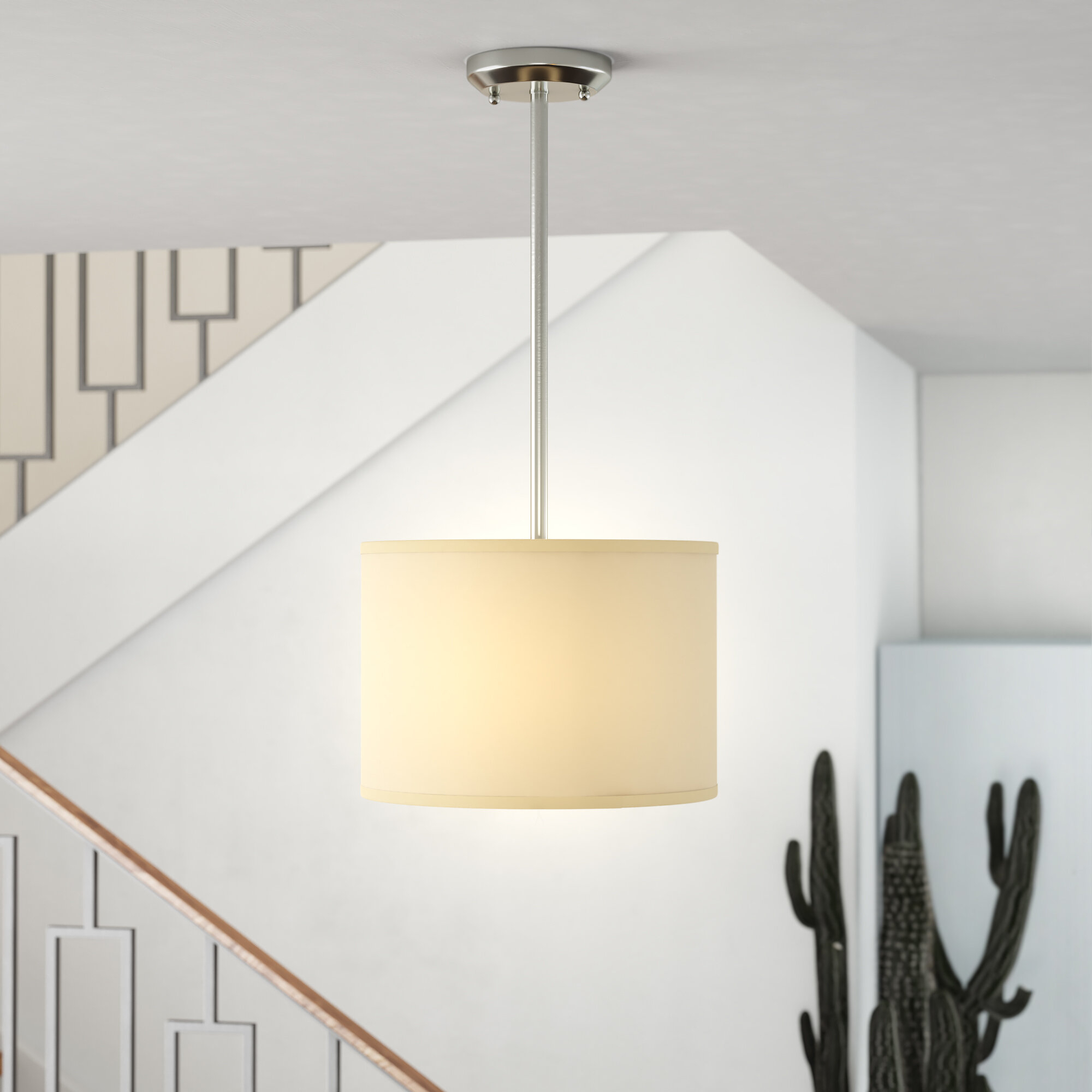 Kasey 1 Light Single Drum Pendant With Regard To Kasey 3 Light Single Drum Pendants (Photo 9 of 30)