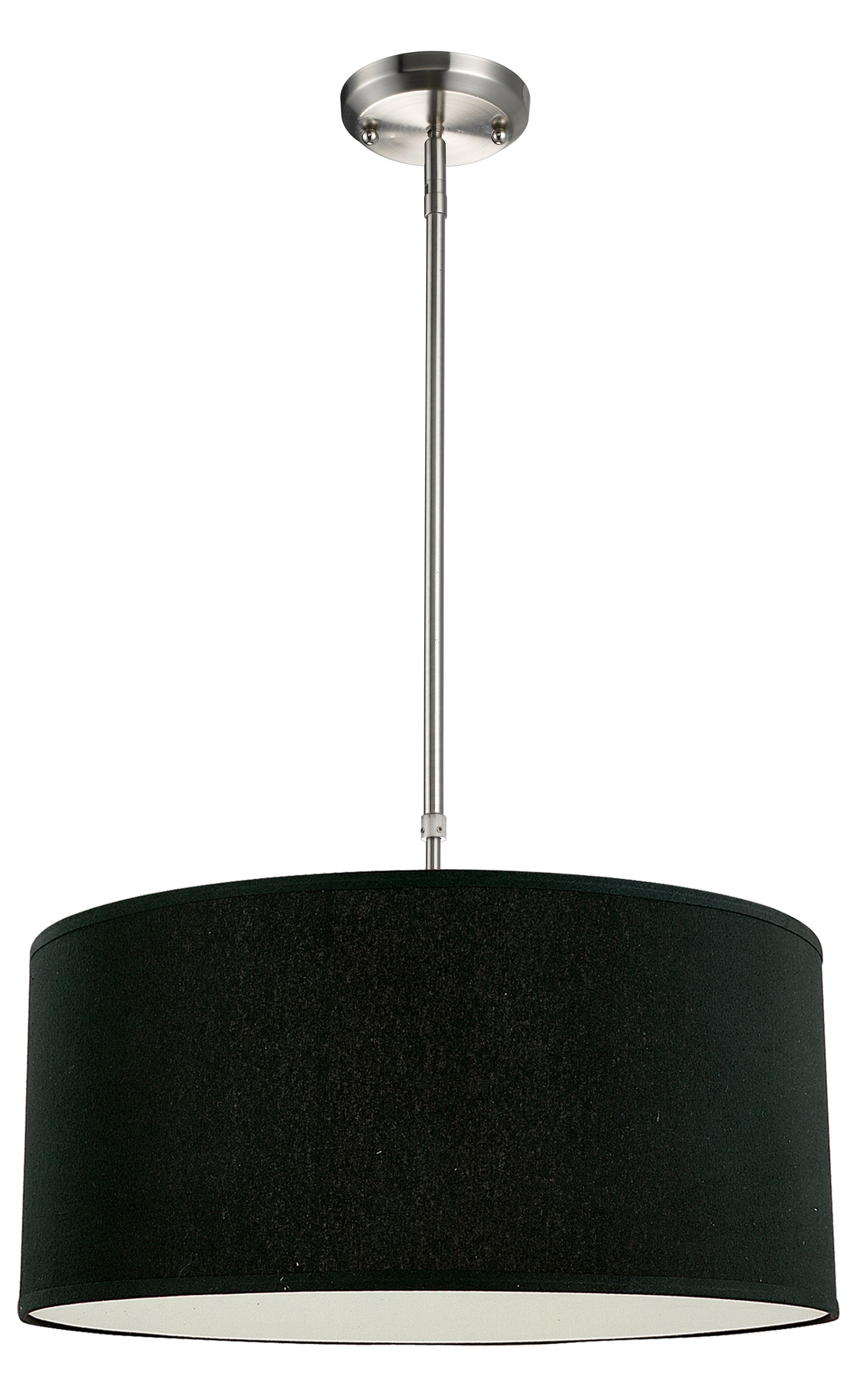 Kasey 3 Light Drum Pendant Pertaining To Radtke 3 Light Single Drum Pendants (Gallery 13 of 30)