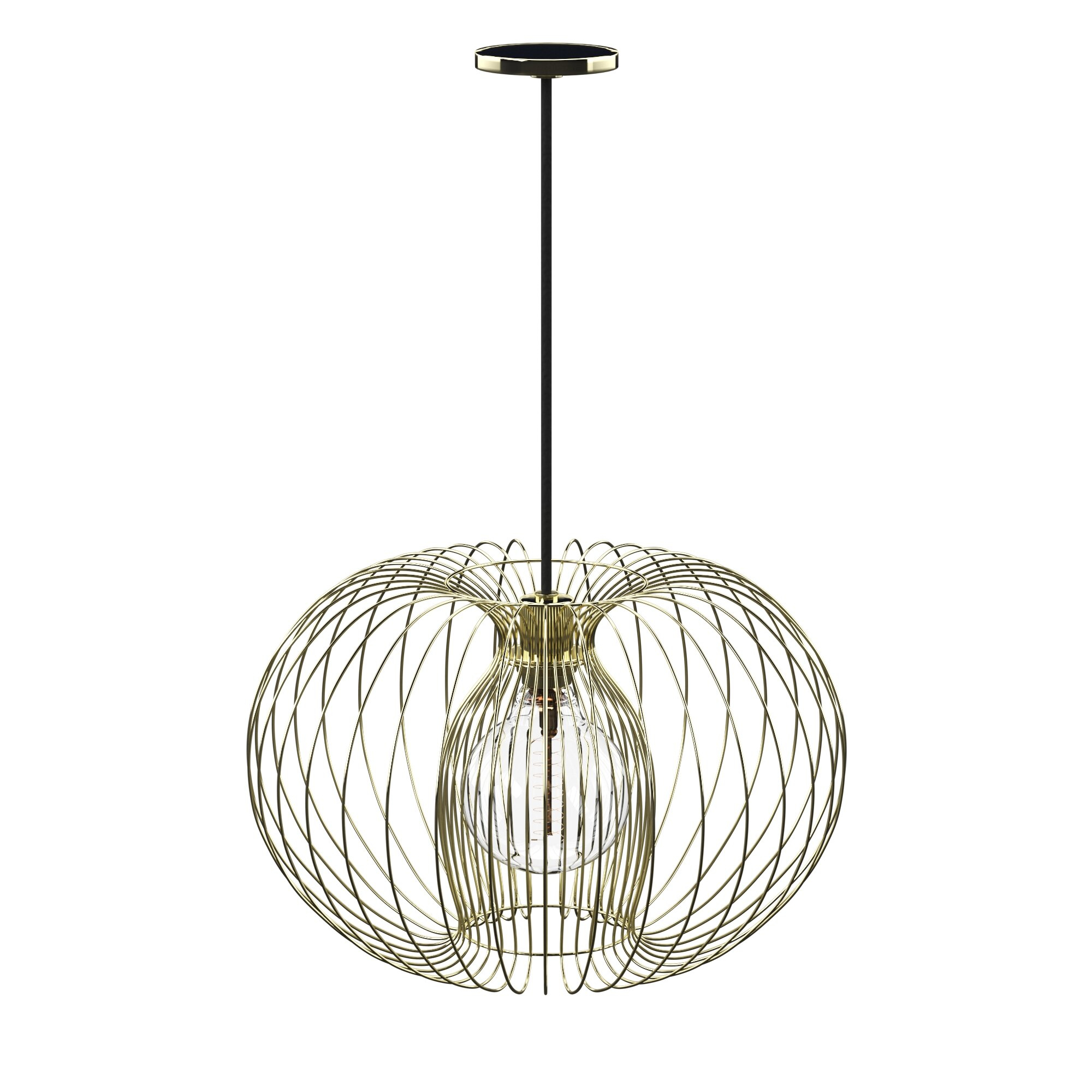 Kass 1 Light Geometric Pendant Within Poynter 1 Light Single Cylinder Pendants (Photo 14 of 30)