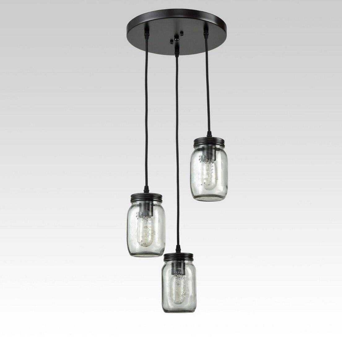 Kastner 3 Light Cluster Pendant Throughout Vernice 3 Light Cluster Bell Pendants (Gallery 24 of 30)