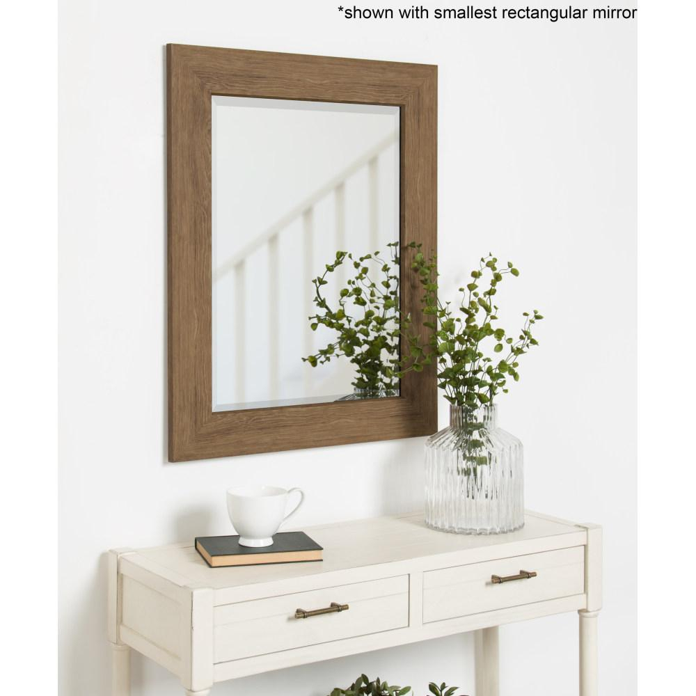 Kate And Laurel Boardwalk Rectangle Brown Accent Mirror Throughout Rectangle Accent Wall Mirrors (Photo 16 of 30)