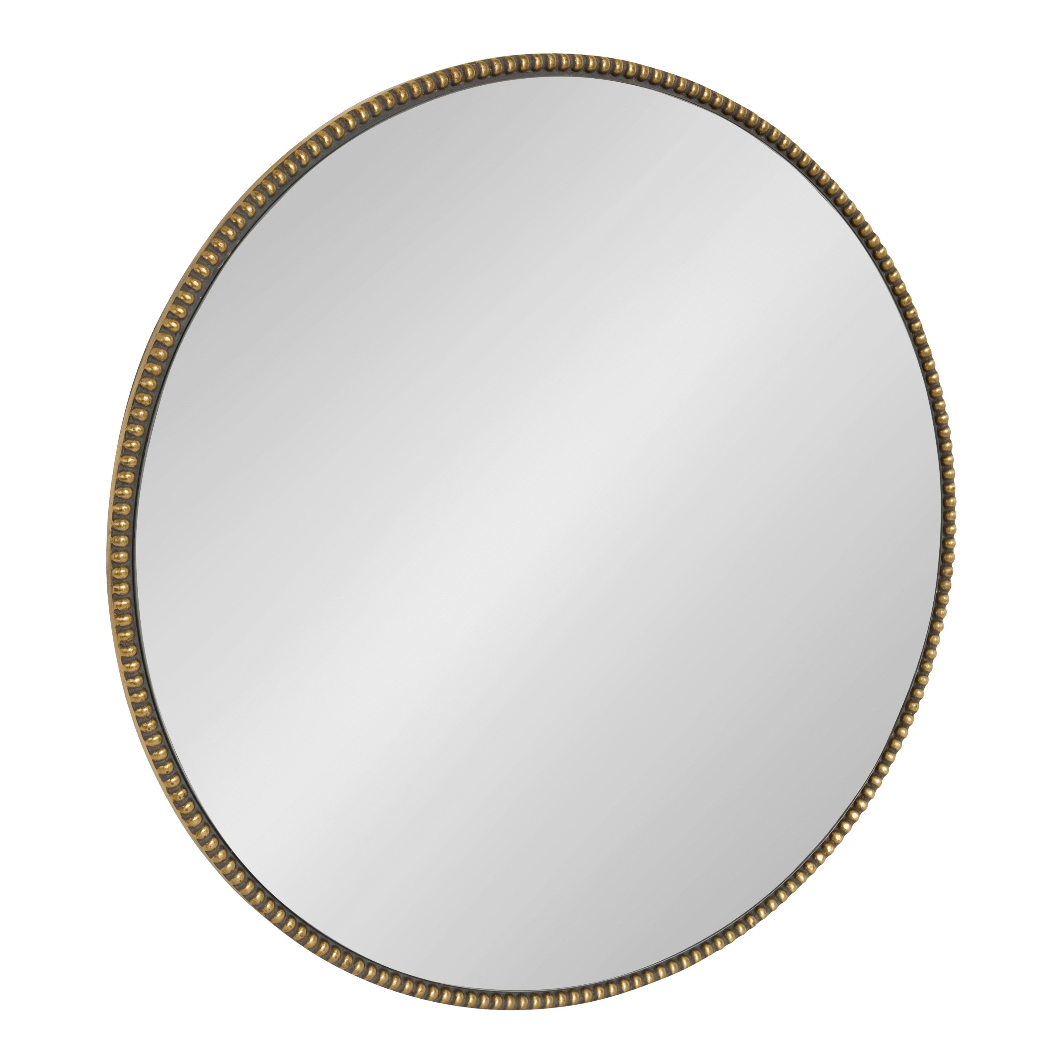"Kate And Laurel Gwendolyn Round Beaded Accent Wall Mirror – Gold – 23.6""  Diameter Pertaining To Beaded Accent Wall Mirrors (Gallery 12 of 30)"