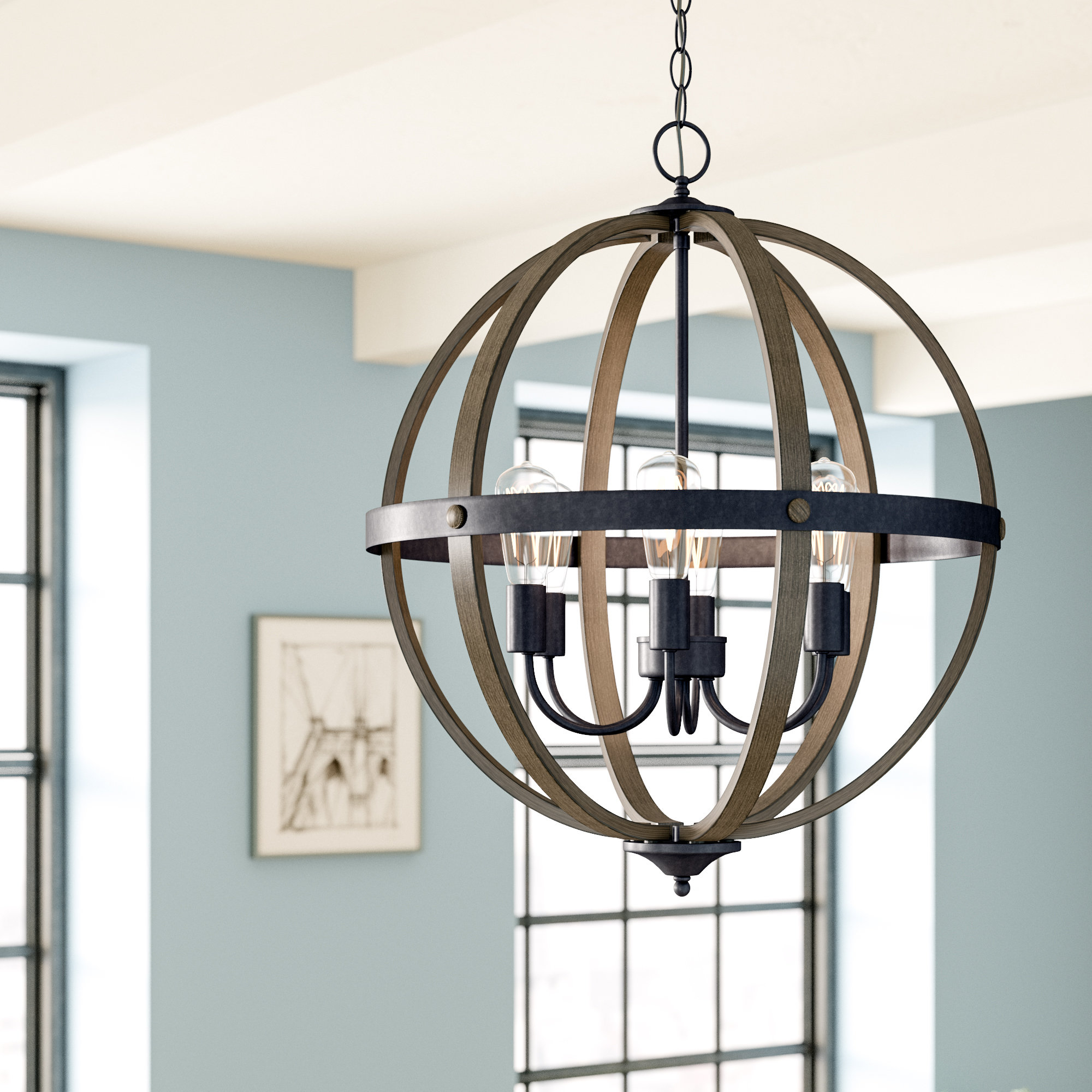 Kathrina 6 Light Globe Chandelier Pertaining To Filipe Globe Chandeliers (Gallery 6 of 30)