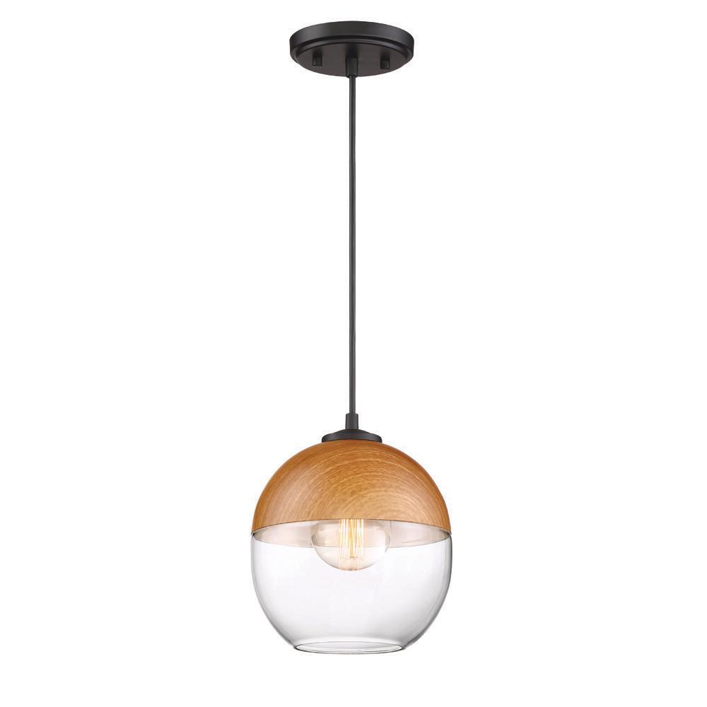 Kawena 1 Light Robusta Wood Style Finish Hanging Pendant In Irwin 1 Light Single Globe Pendants (Photo 30 of 30)