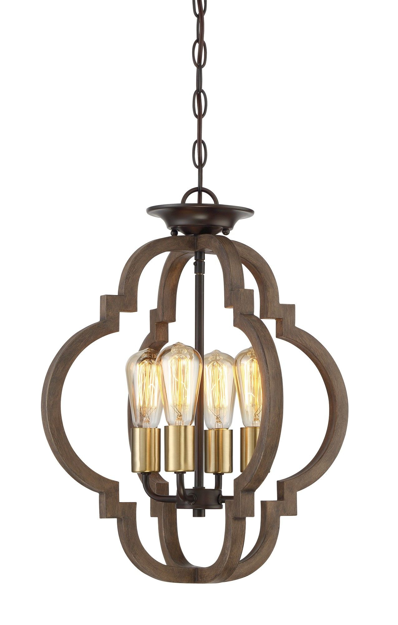 Kaycee 4 Light Geometric Chandelier | Lighting | Ceiling For Lynn 6 Light Geometric Chandeliers (Photo 16 of 30)