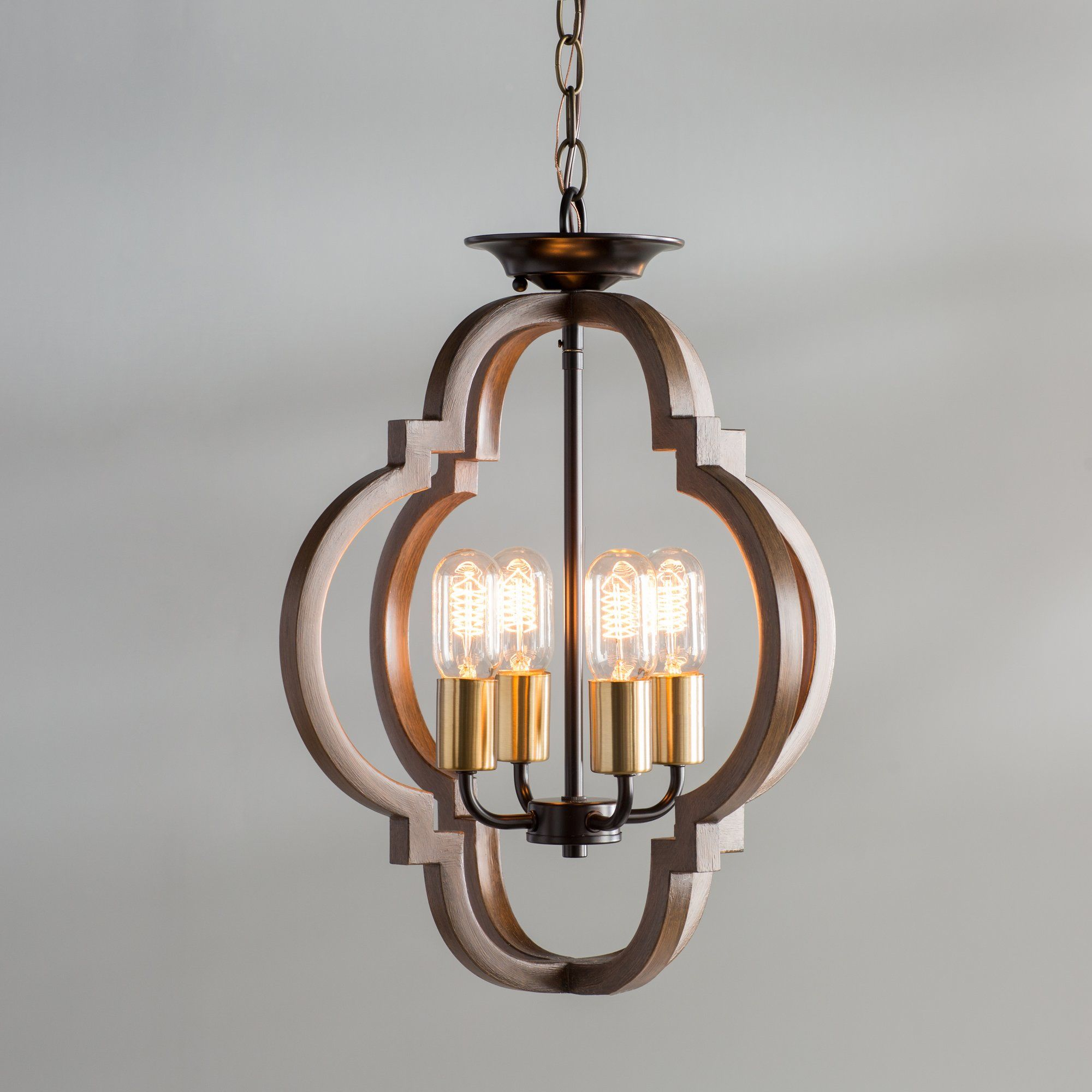 Kaycee 4 Light Geometric Pendant | For The Home | Foyer Pertaining To Kaycee 4 Light Geometric Chandeliers (View 8 of 30)