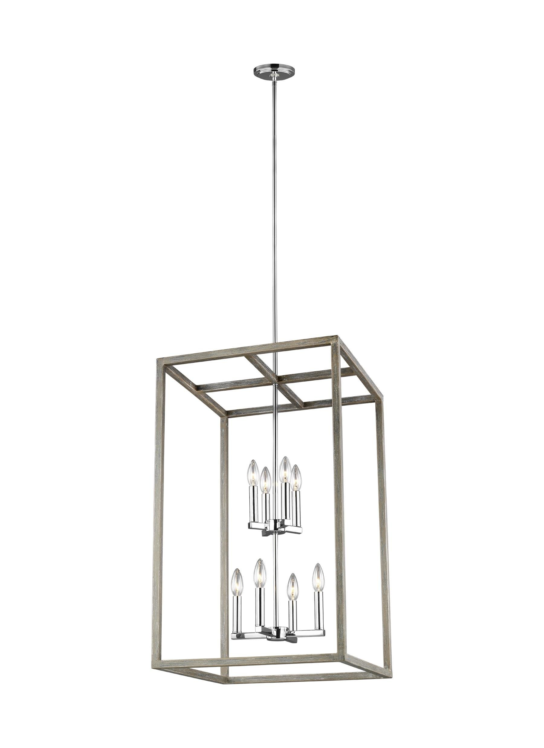 Kaydence 8 Light Single Rectangle Pendant With Odie 8 Light Lantern Square / Rectangle Pendants (Photo 16 of 30)