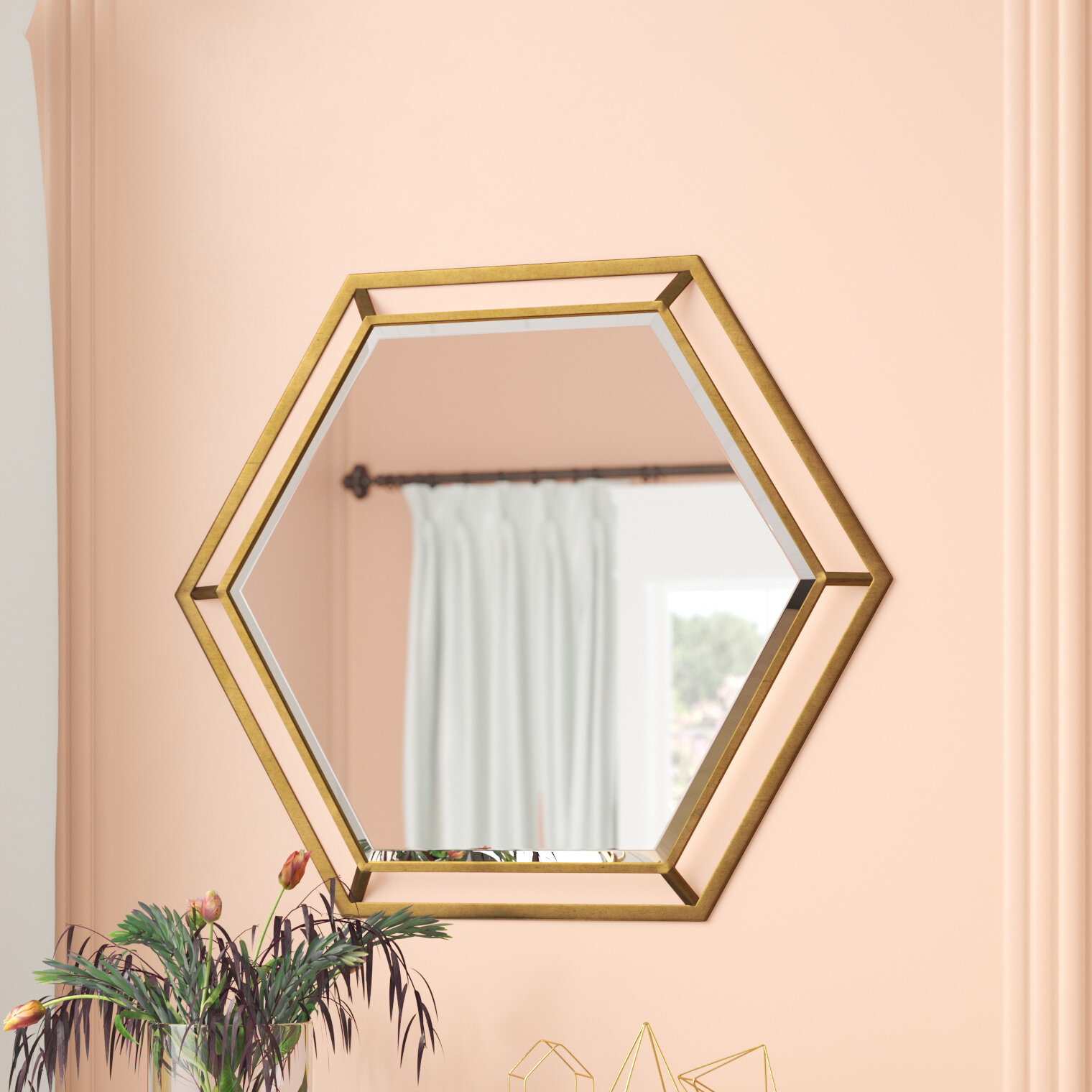 Kelston Mills Modern & Contemporary Beveled Accent Mirror In Modern & Contemporary Beveled Accent Mirrors (View 20 of 30)