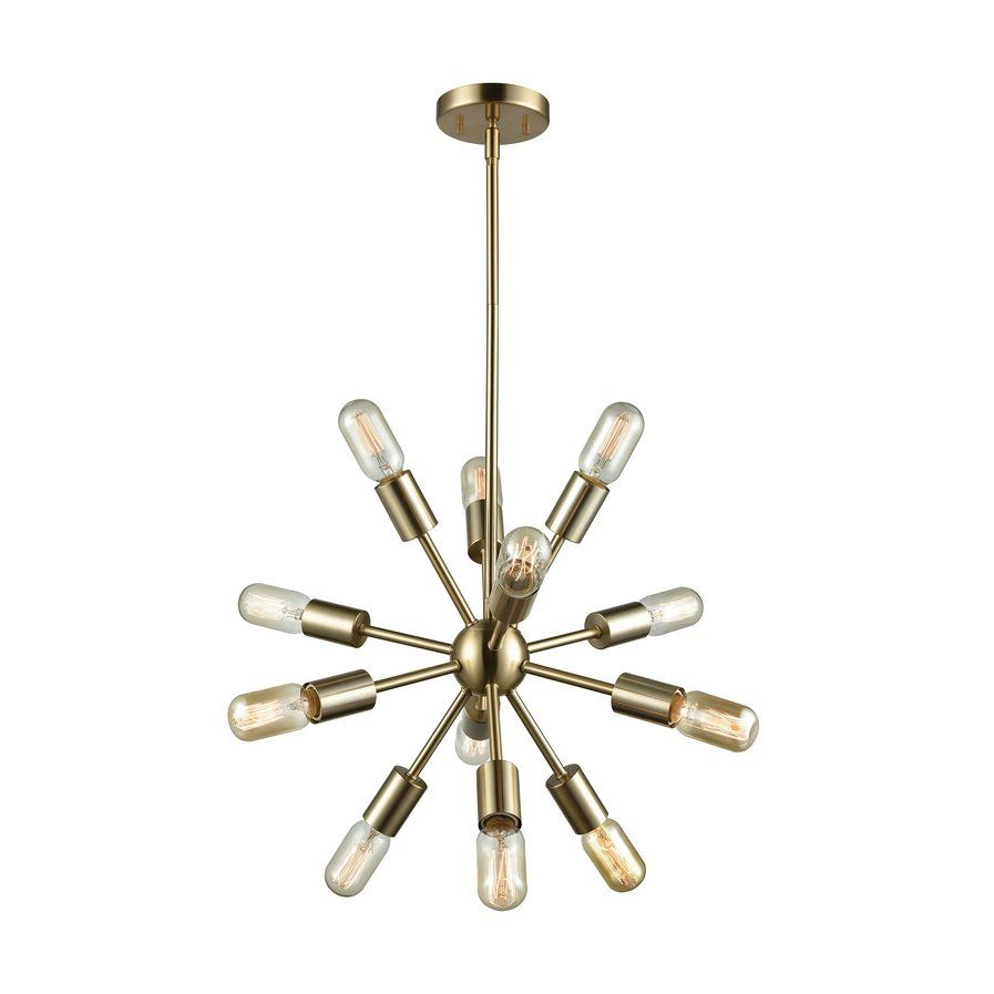 Kendall 12 Light Sputnik Chandelier | Entry Light Throughout Corona 12 Light Sputnik Chandeliers (View 23 of 30)