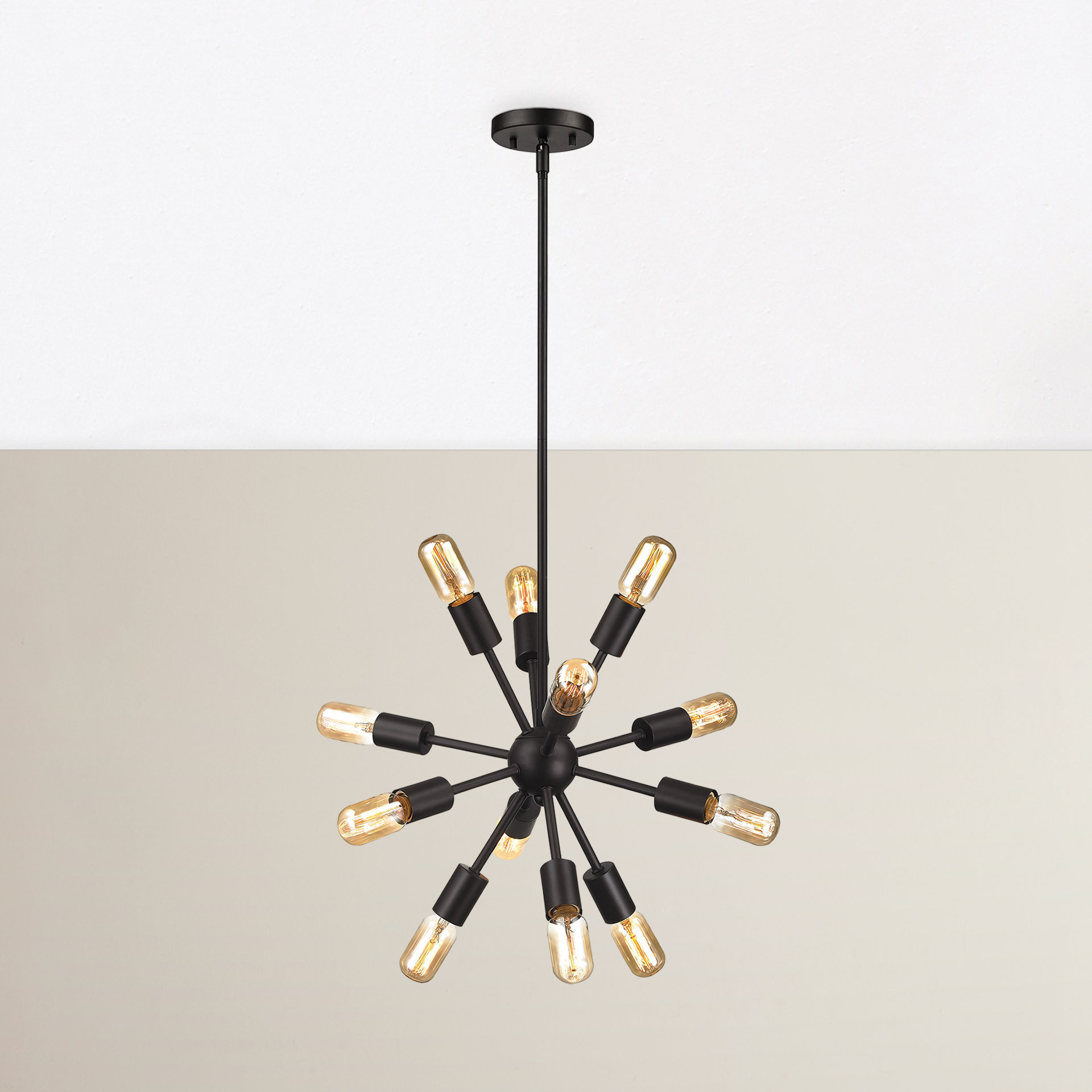 Kendall 12 Light Sputnik Chandelier With Vroman 12 Light Sputnik Chandeliers (Gallery 8 of 30)