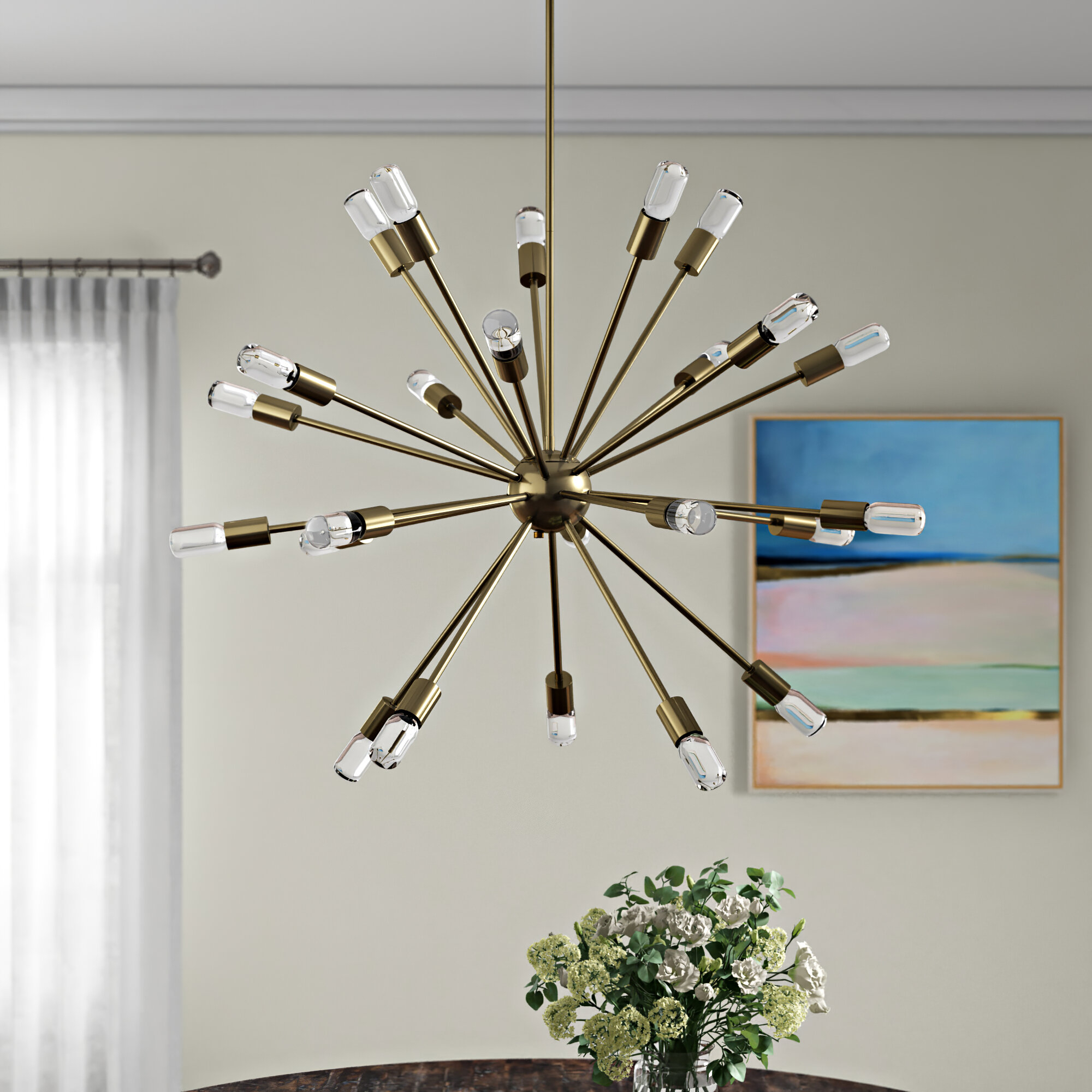 Kendall 24-Light Chandelier within Asher 12-Light Sputnik Chandeliers (Image 17 of 30)