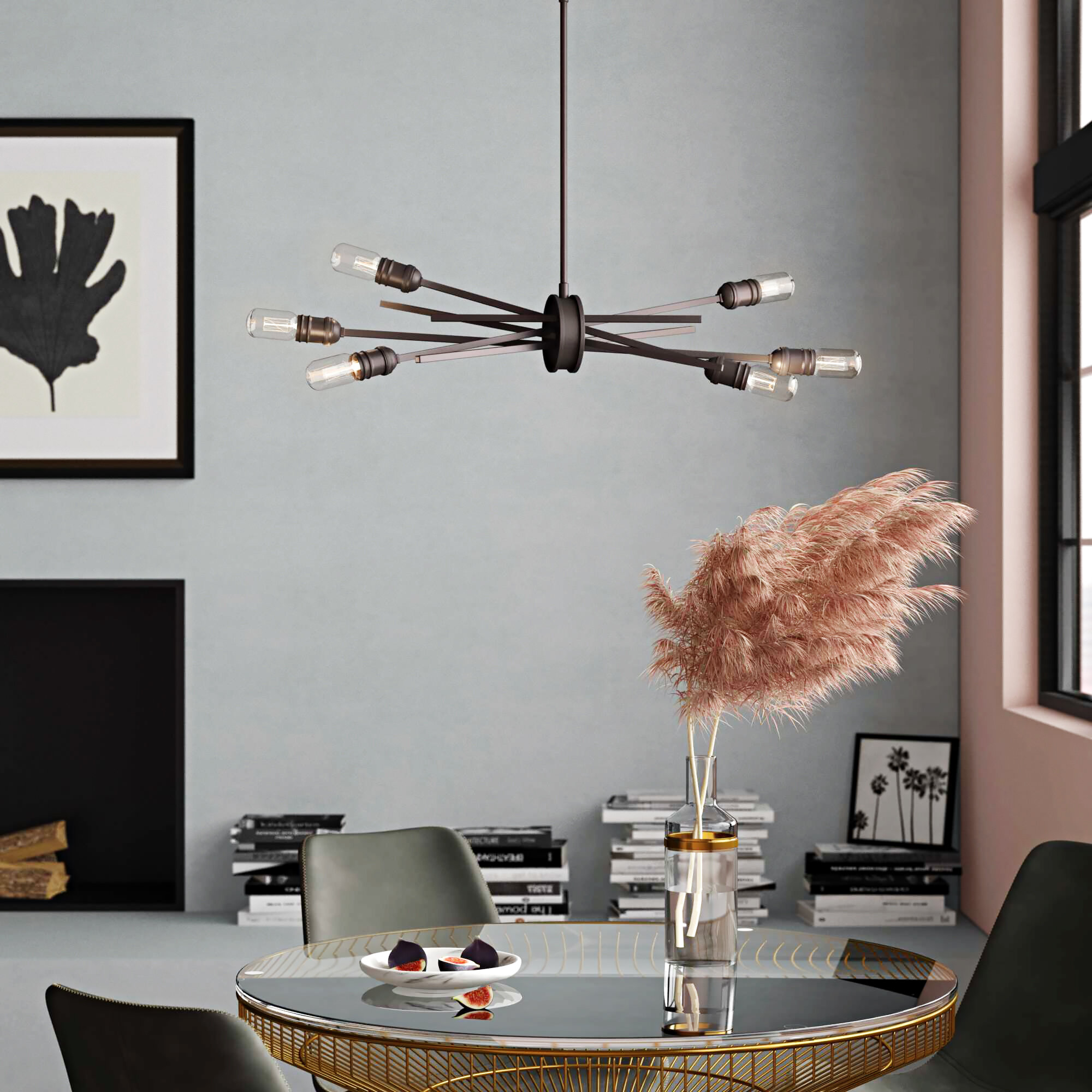 Kendall Sputnik Chandelier | Wayfair Pertaining To Silvia 6 Light Sputnik Chandeliers (Photo 30 of 30)