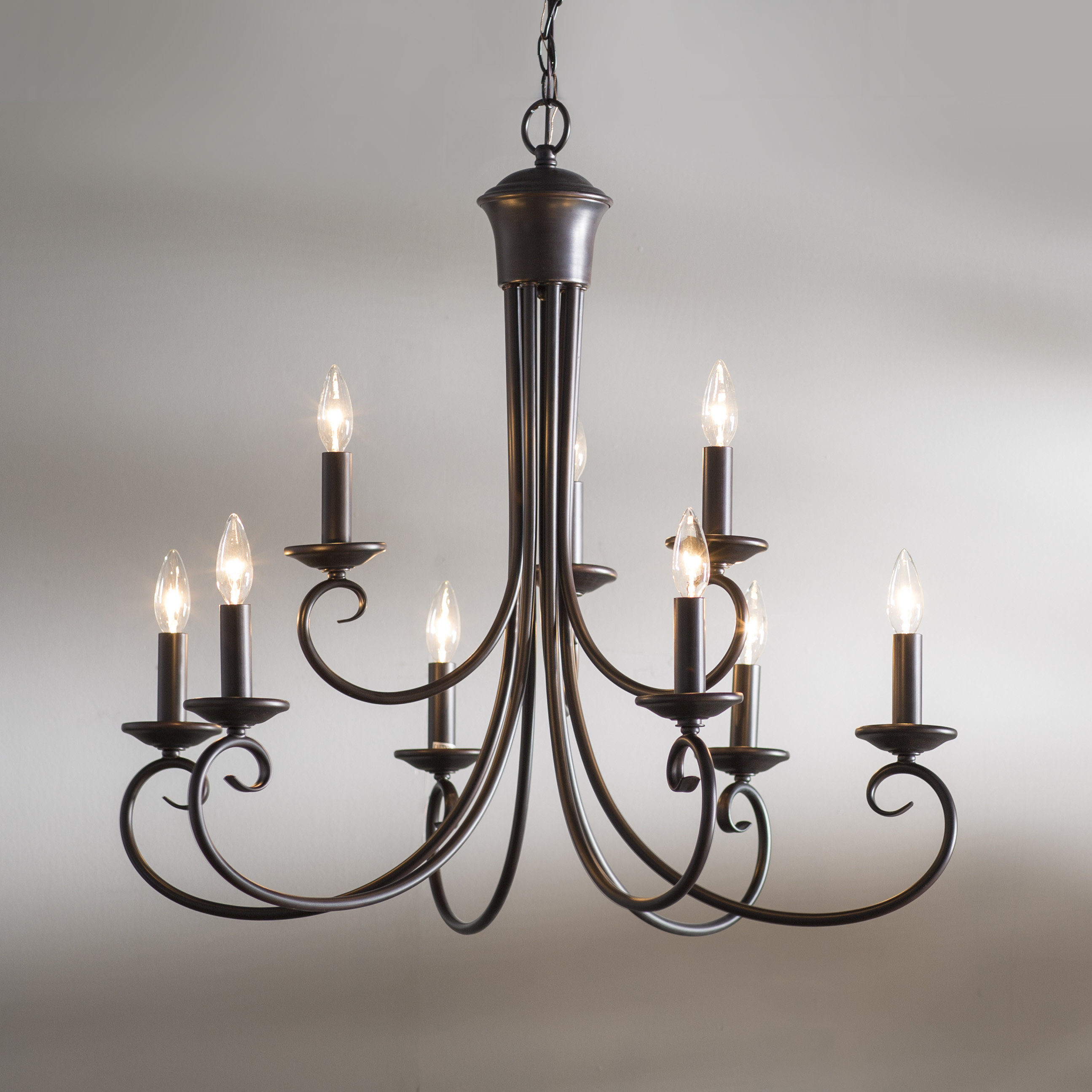 Kenedy 9 Light Candle Style Chandelier For Gaines 9 Light Candle Style Chandeliers (View 4 of 30)