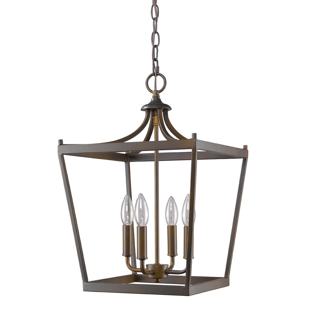 Kennedy 4 Light Oil Rubbed Bronze Pendant : 27Ppk | Illuminate For Kenedy 9 Light Candle Style Chandeliers (Photo 26 of 30)