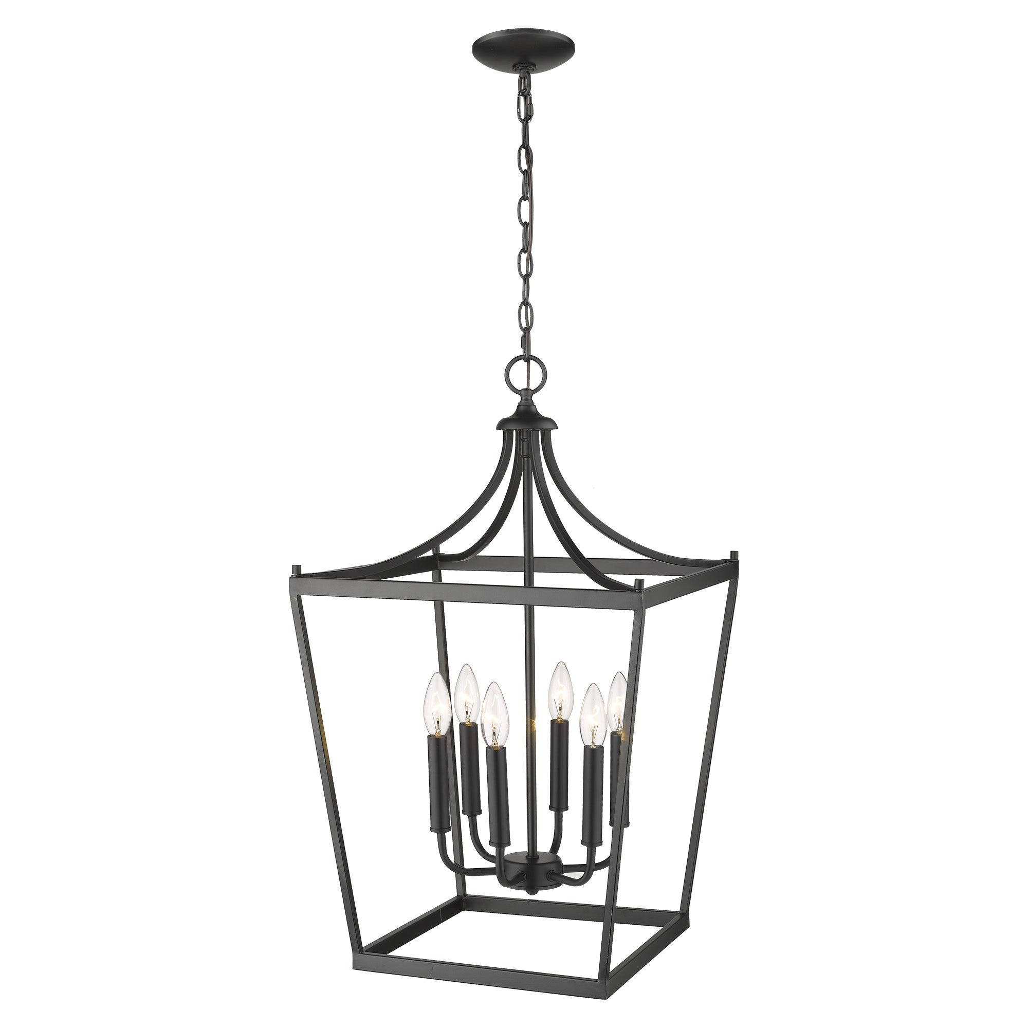 Kennedy 6 Light Matte Black Chandelier With Regard To Kenedy 9 Light Candle Style Chandeliers (Photo 27 of 30)