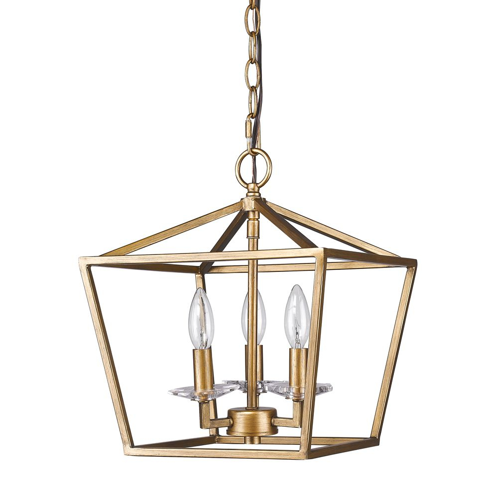 "Kennedy Antique Gold Lantern Pendant Light 12""wx14""h In 2019 Inside Finnick 3 Light Lantern Pendants (Photo 19 of 30)"