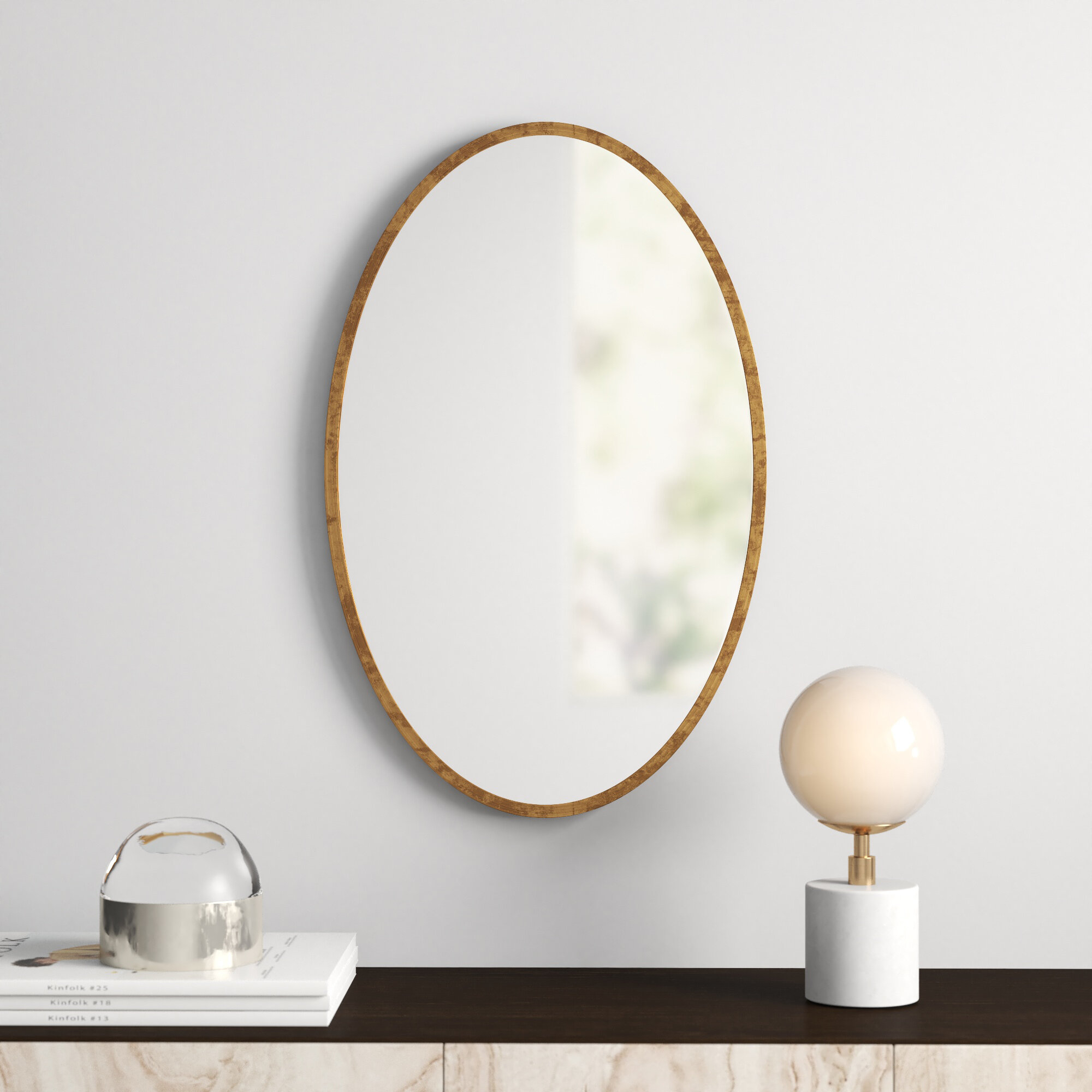 Kennedy Gold Oval Accent Mirror For Luna Accent Mirrors (Photo 16 of 30)