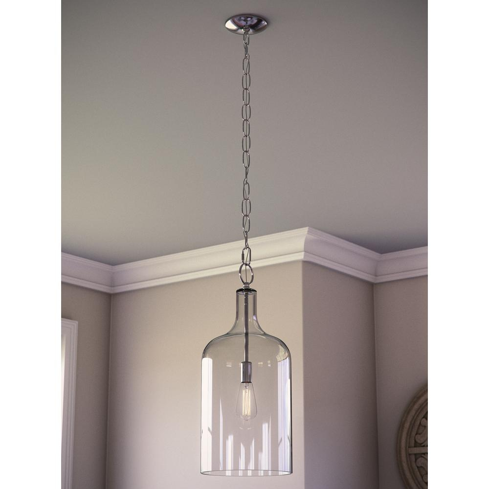Kenroy Home Capri 1-Light Clear Glass Pendant in 1-Light Single Star Pendants (Image 24 of 30)