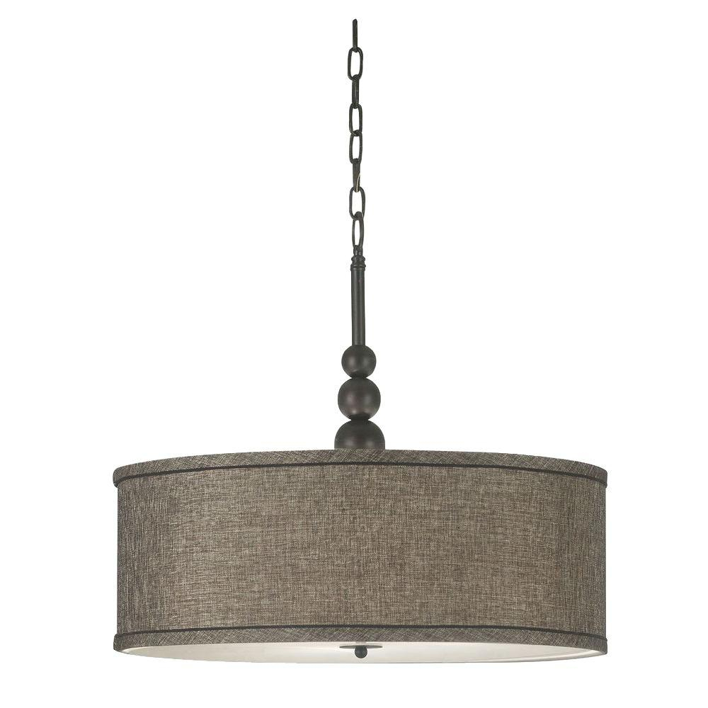 Kenroy Home Margot 3 Light Oil Rubbed Bronze Pendant Throughout Harlan 5 Light Drum Chandeliers (Photo 15 of 30)