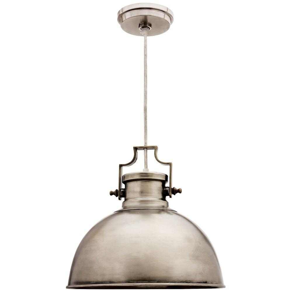 Kenroy Home Nautilus 1-Light Antique Nickel Pendant-92065Ani intended for 1-Light Single Dome Pendants (Image 16 of 30)