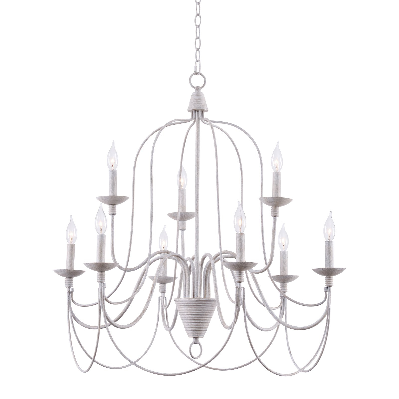 Kenroy Home Pannier 93069Wh 9 Light Chandelier | Products In Pertaining To Watford 9 Light Candle Style Chandeliers (Photo 15 of 30)