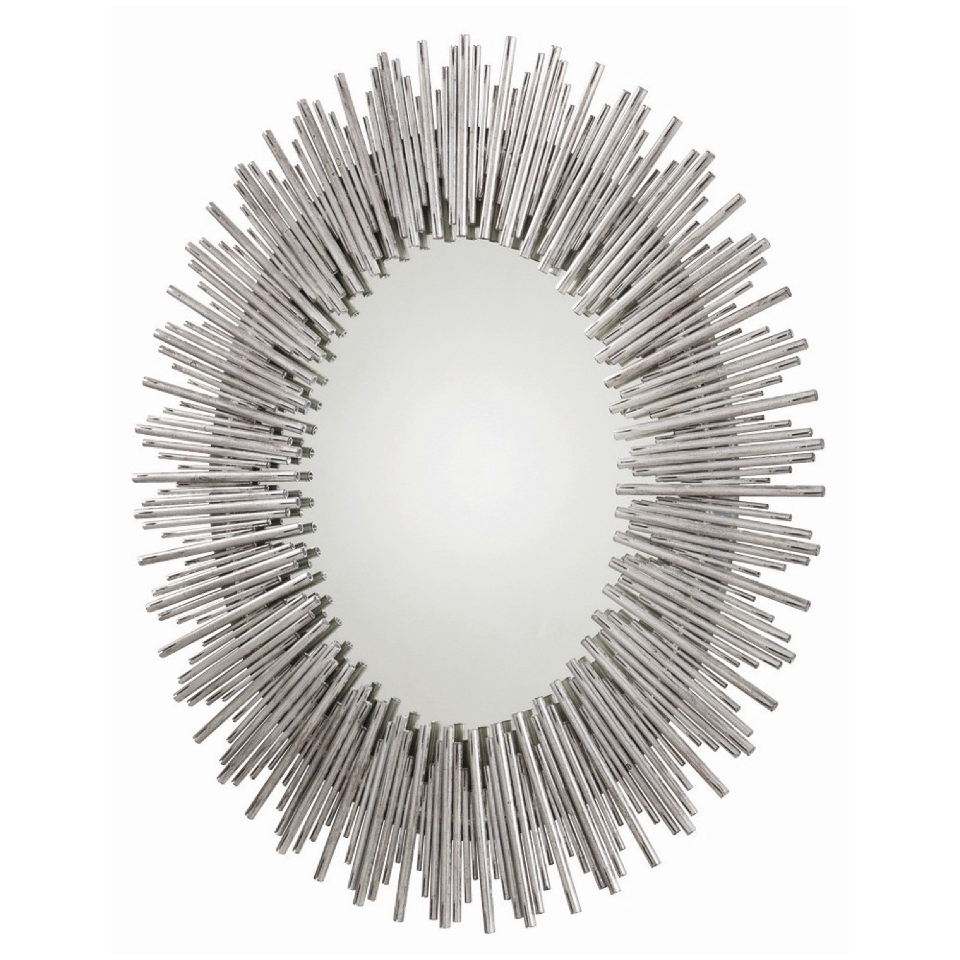 Kentwood Oval Wall Mirror | Silver in Kentwood Round Wall Mirrors (Image 10 of 30)