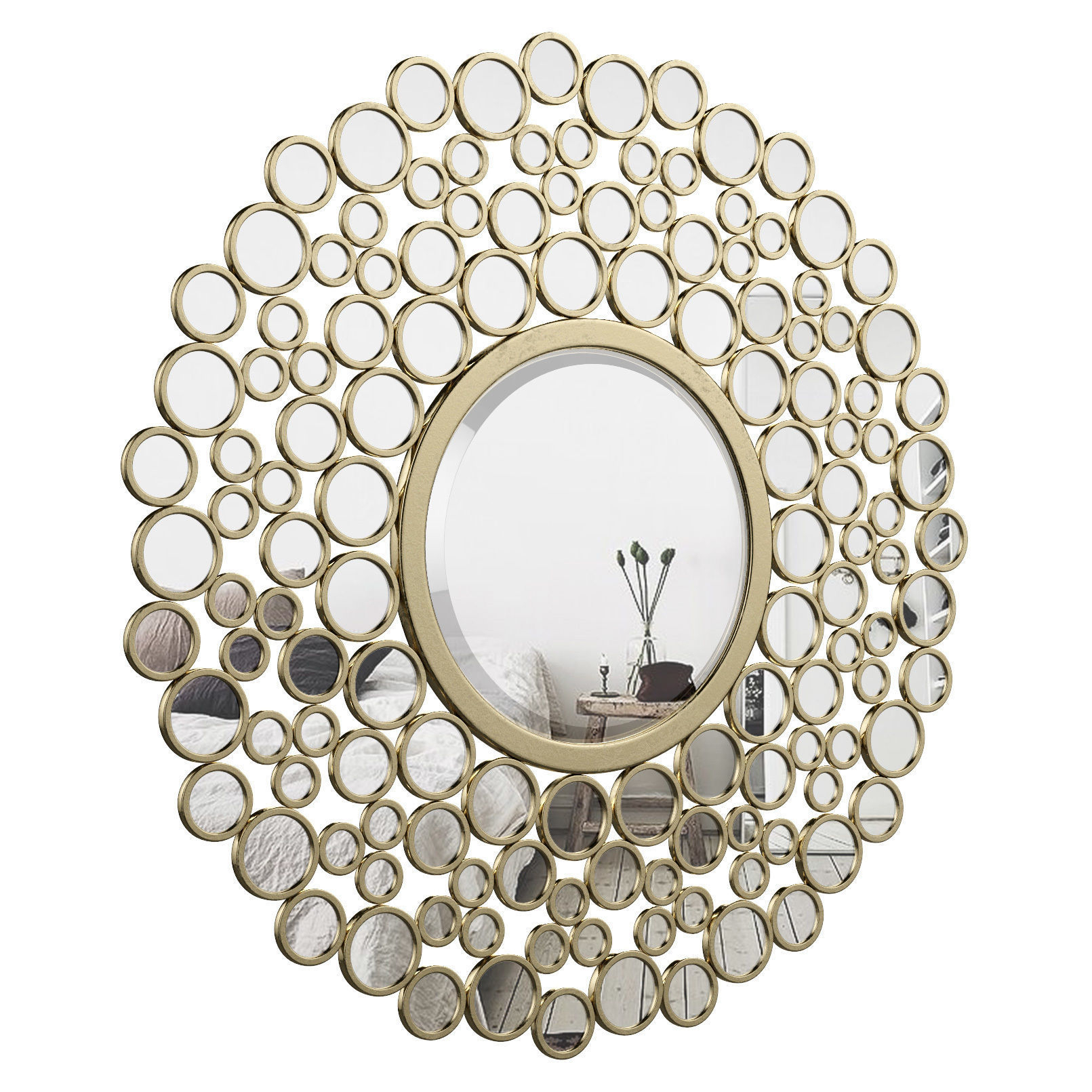 Kentwood Round Wall Mirror Vkgl1574 | 3D Model For Kentwood Round Wall Mirrors (Photo 1 of 30)